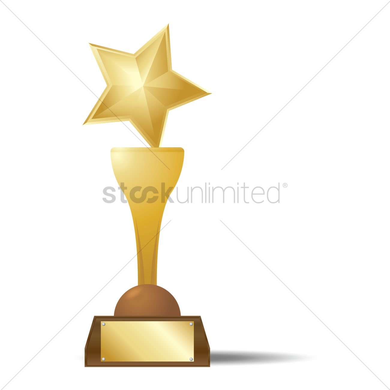 Gold Star Trophy Vector Image