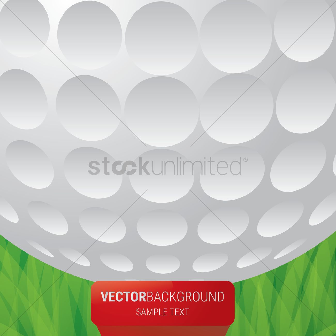 Golf Ball Wallpaper Vector Graphic
