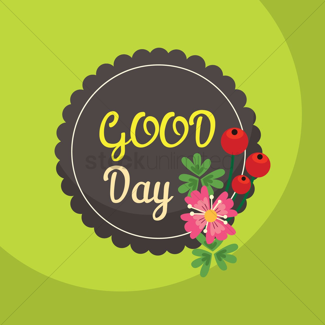 Good day greeting vector image 1811308 stockunlimited good day greeting vector graphic kristyandbryce Gallery