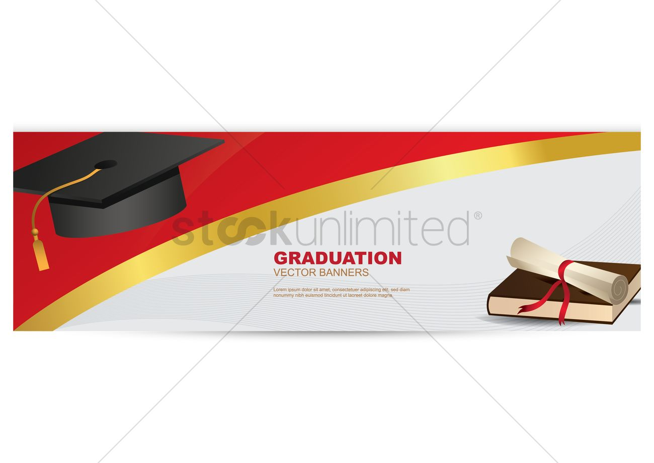 graduation banner vector image 1519344 stockunlimited