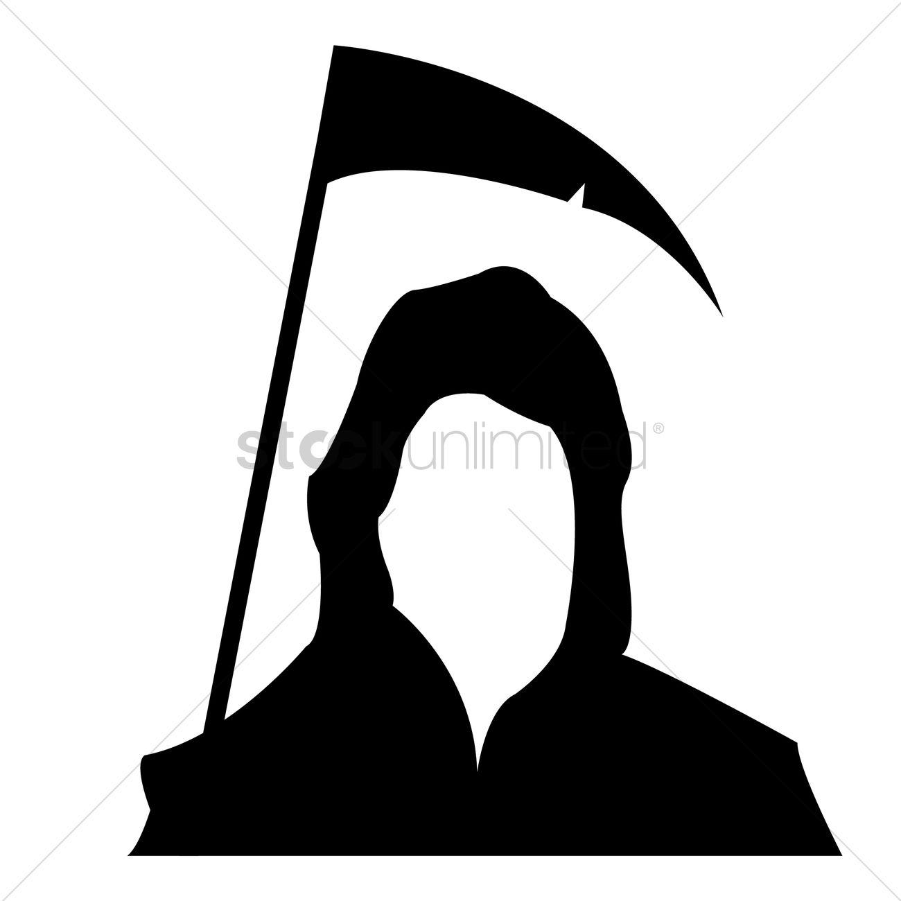 grim reaper silhouette vector image 1483320 stockunlimited rh stockunlimited com