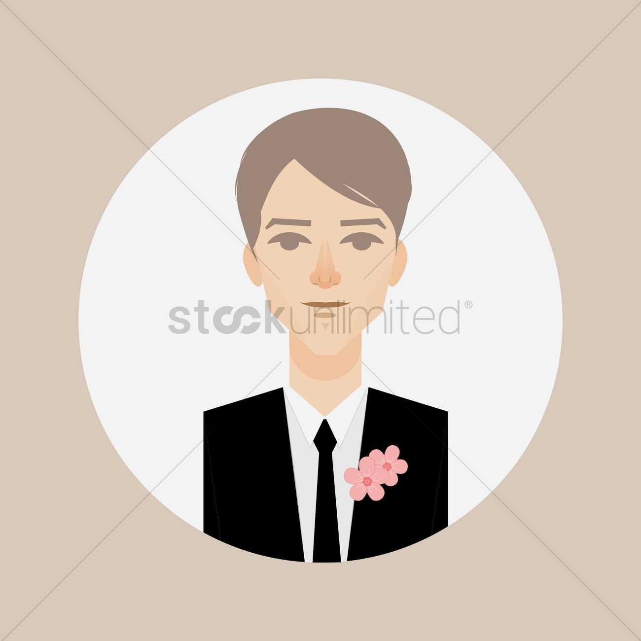 Groom in suit and tie Vector Image - 1457064 | StockUnlimited