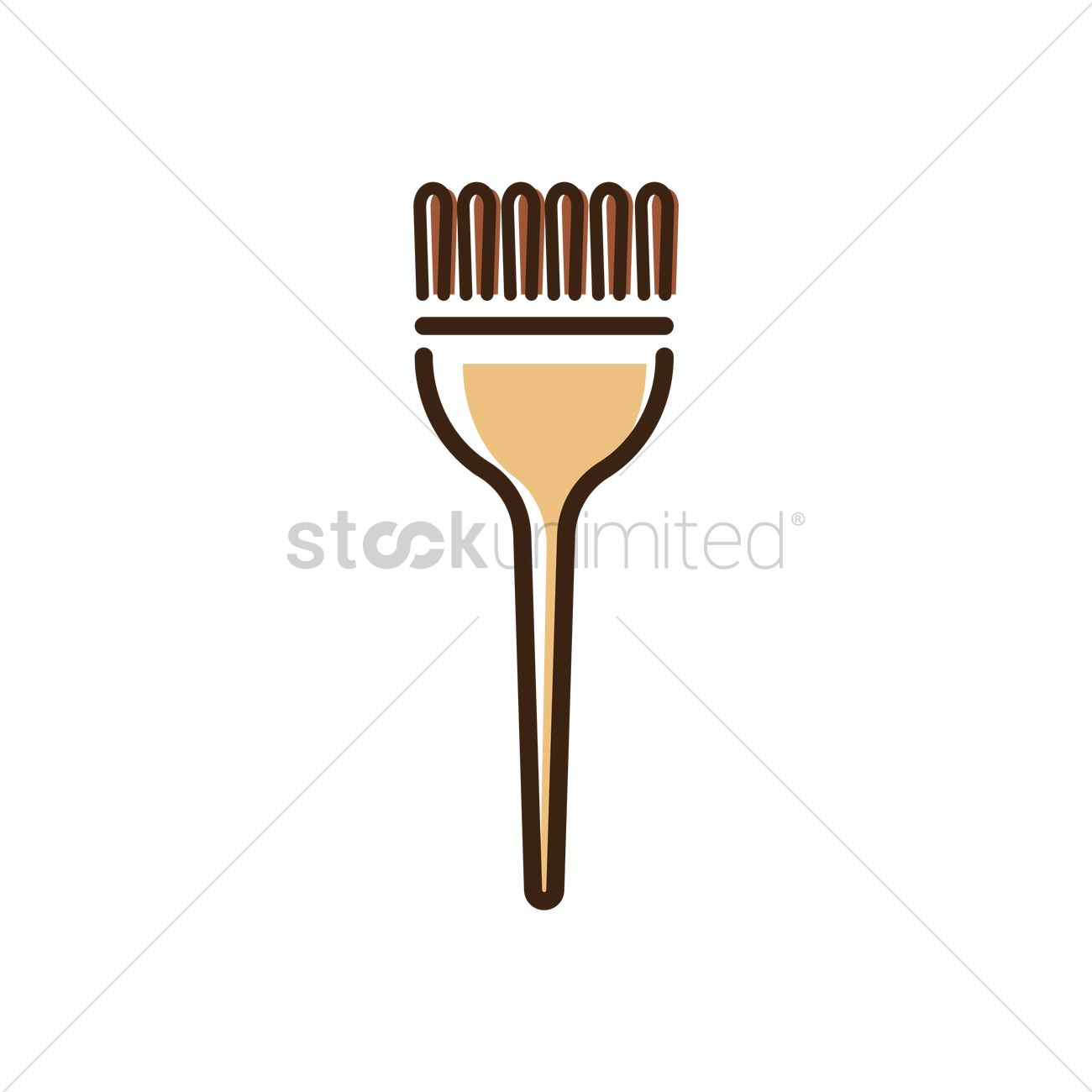 Hair Color Brush Vector Image 1570264 Stockunlimited