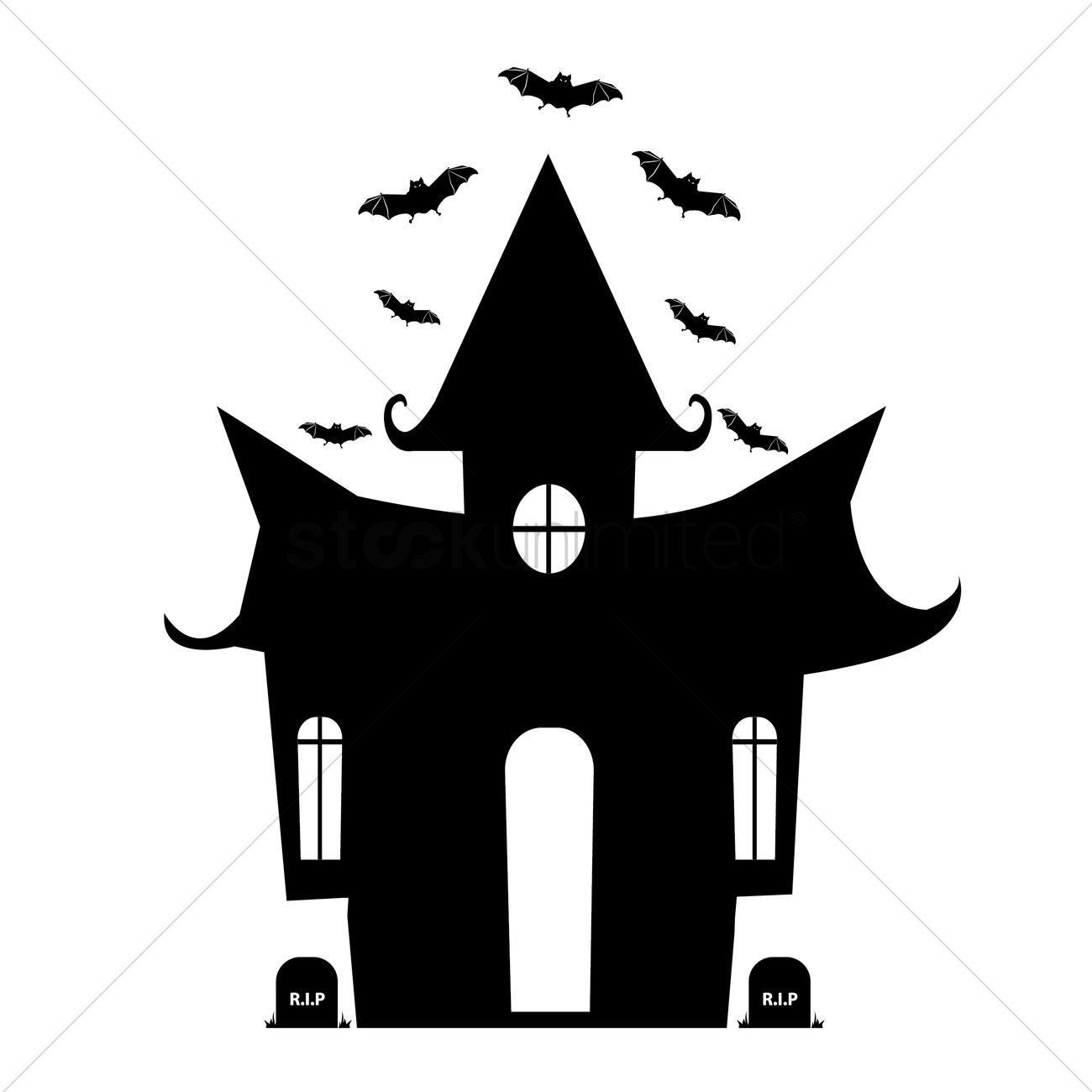 Halloween house silhouette Vector Image - 1484216 | StockUnlimited