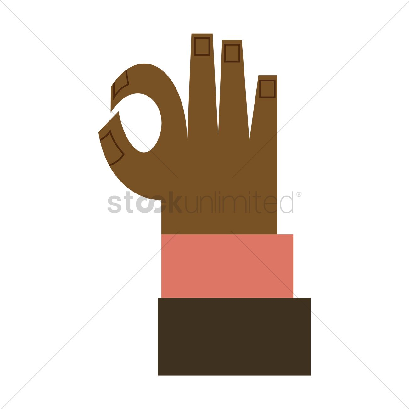 Free Hand Showing Ok Sign Isolated Vector Image 1261332
