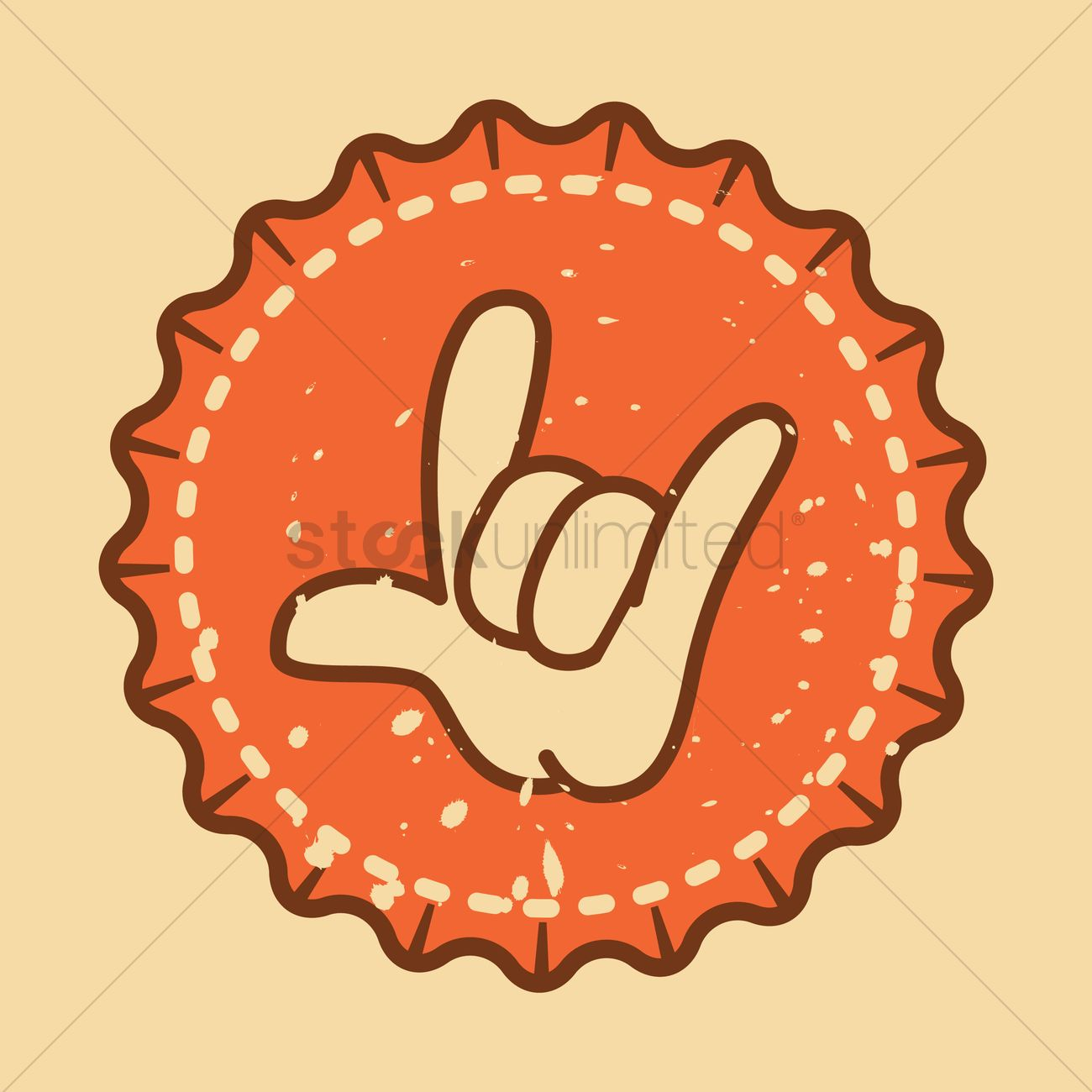 Hand Showing Rock And Roll Symbol Vector Image 1391688