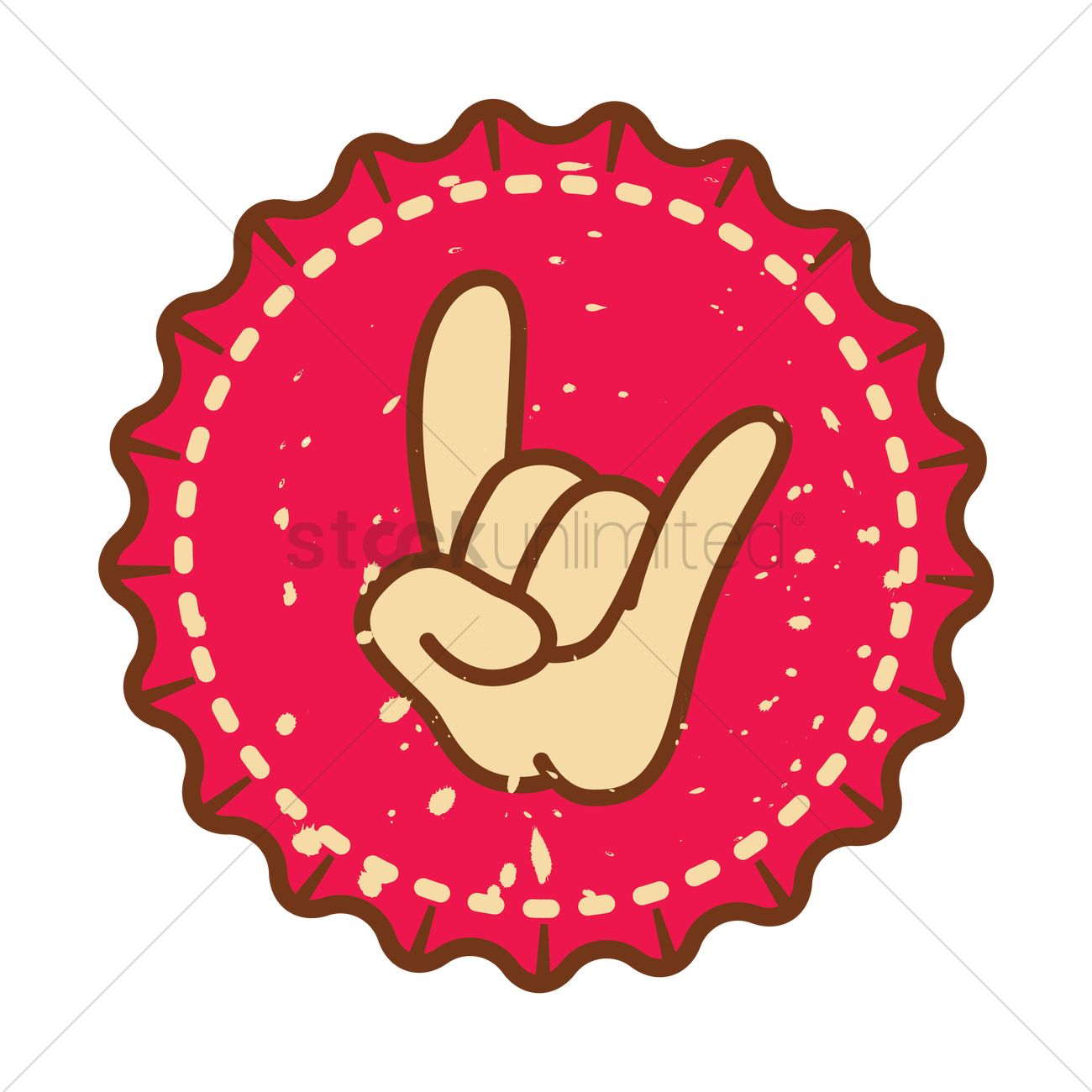 Hand Showing Rock Symbol Vector Image 1391672 Stockunlimited