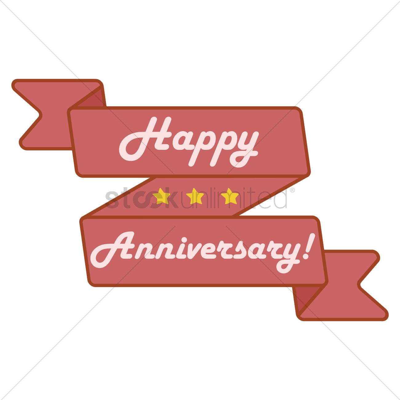 happy anniversary banner vector image 1707624 stockunlimited