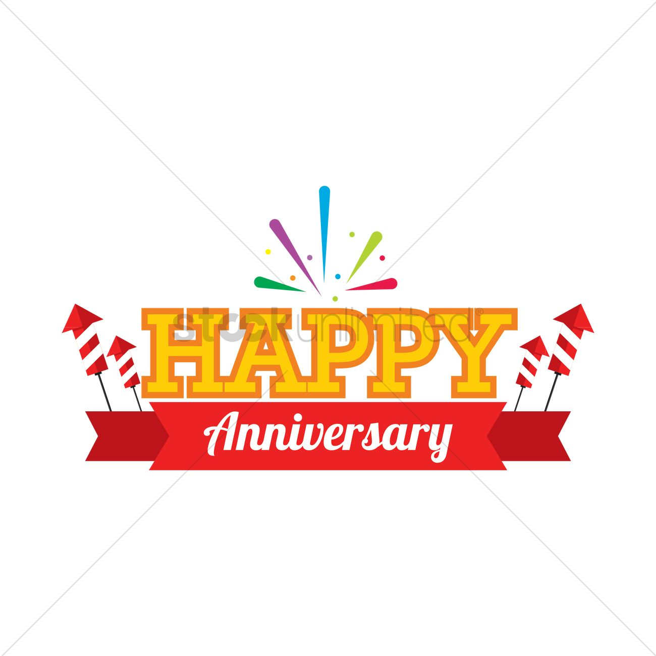 Happy anniversary label Vector Image - 1707692 | StockUnlimited