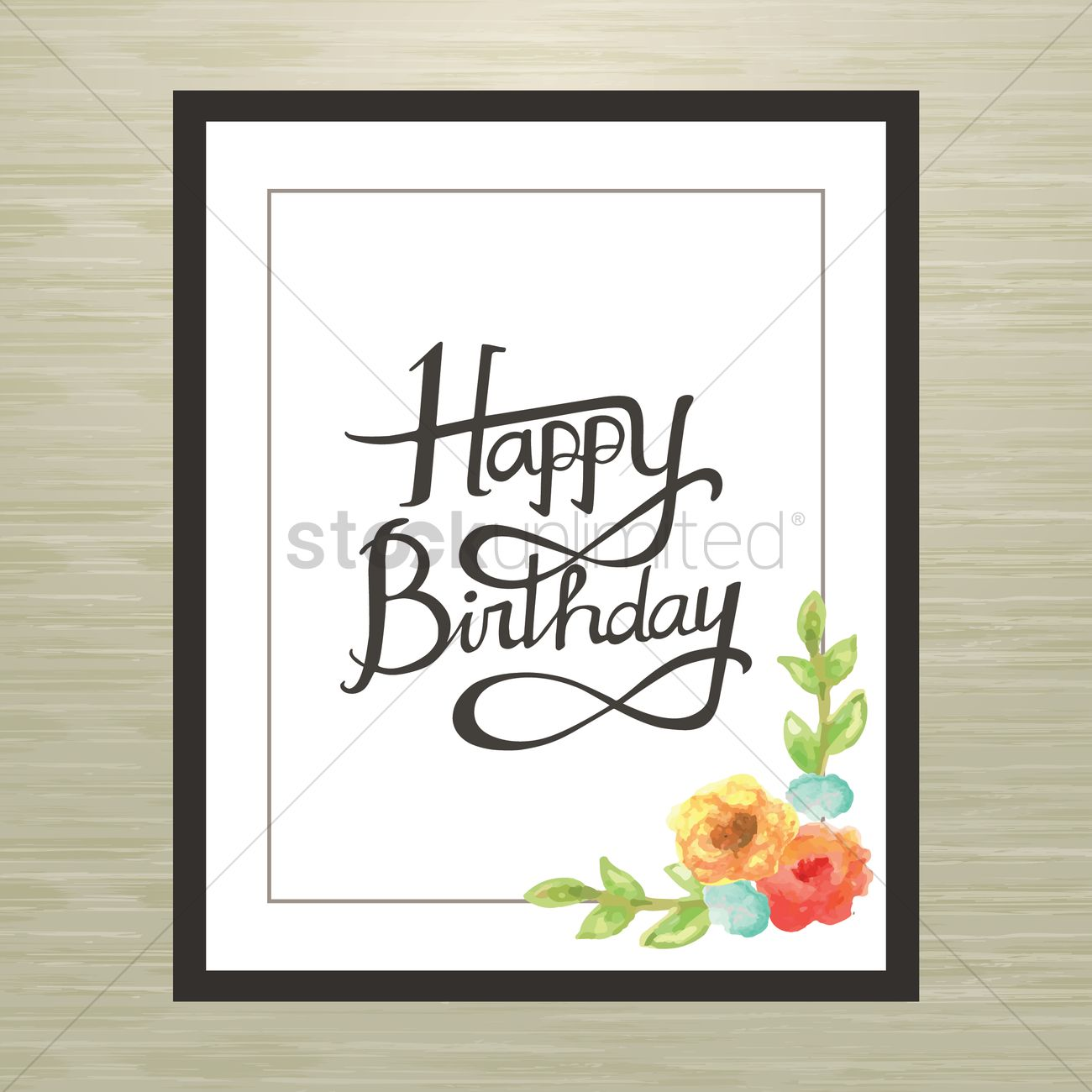 Happy birthday frame Vector Image - 1996156 | StockUnlimited