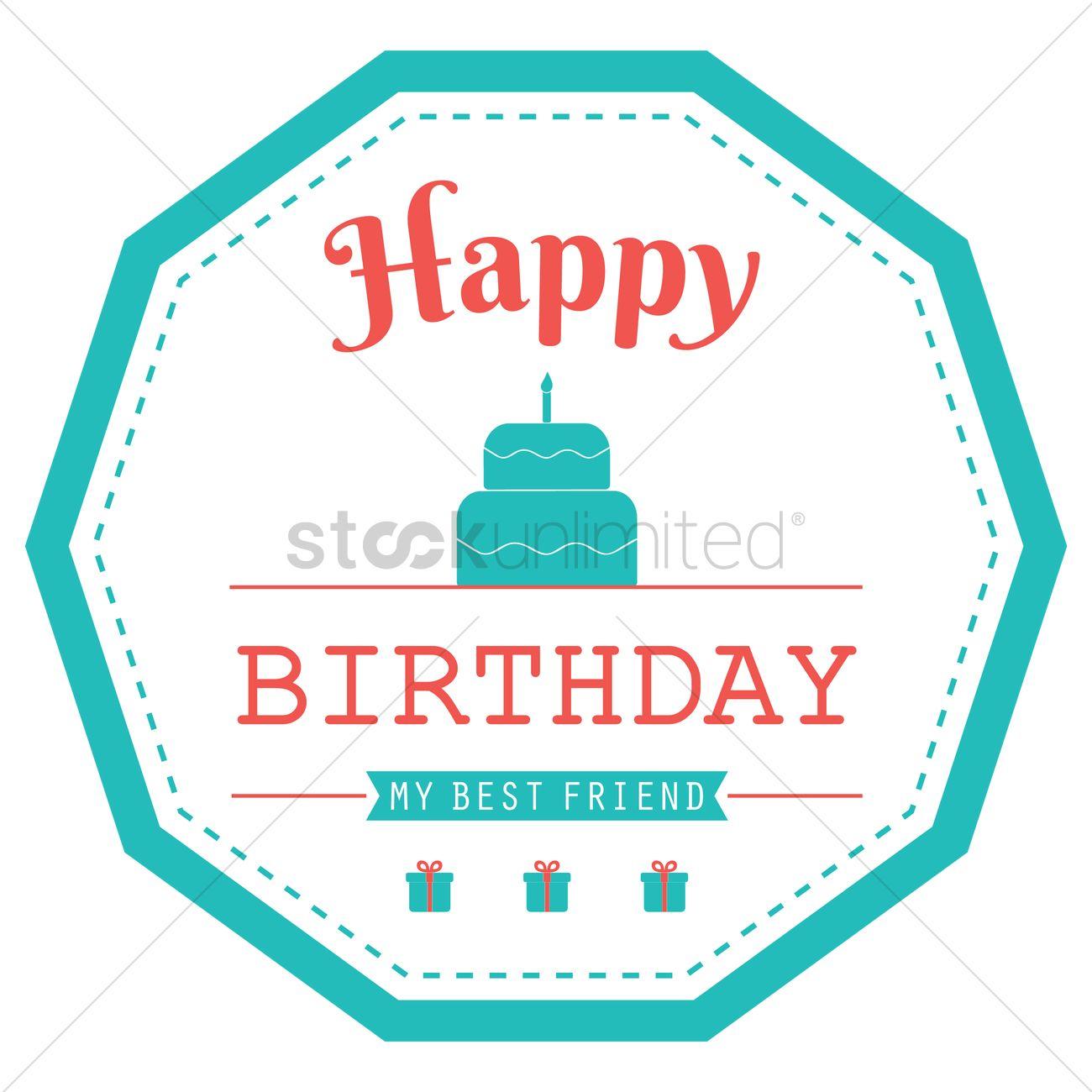 happy birthday label design vector image 1799572 stockunlimited