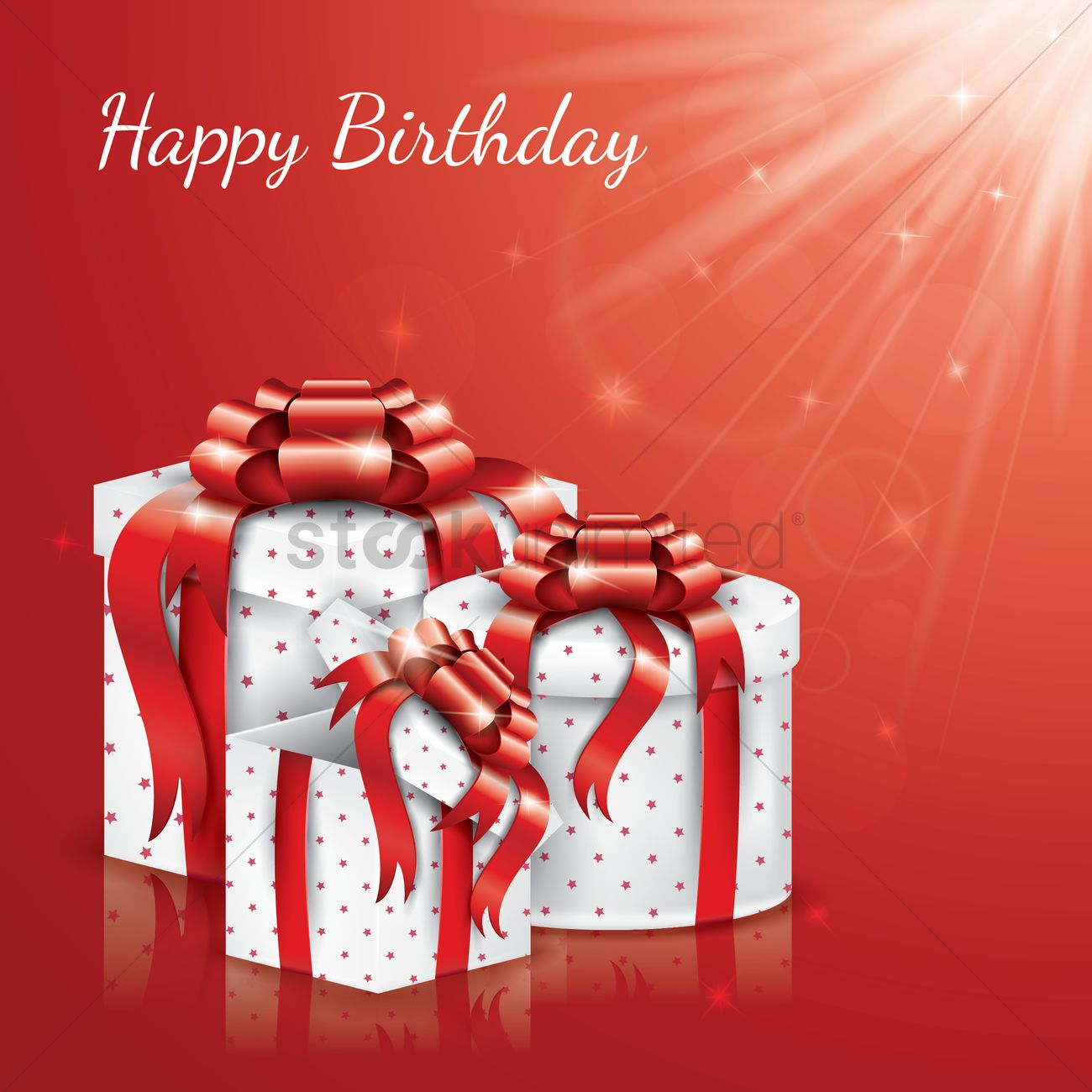 Happy Birthday With Gift Boxes Vector Image 1934612 Stockunlimited