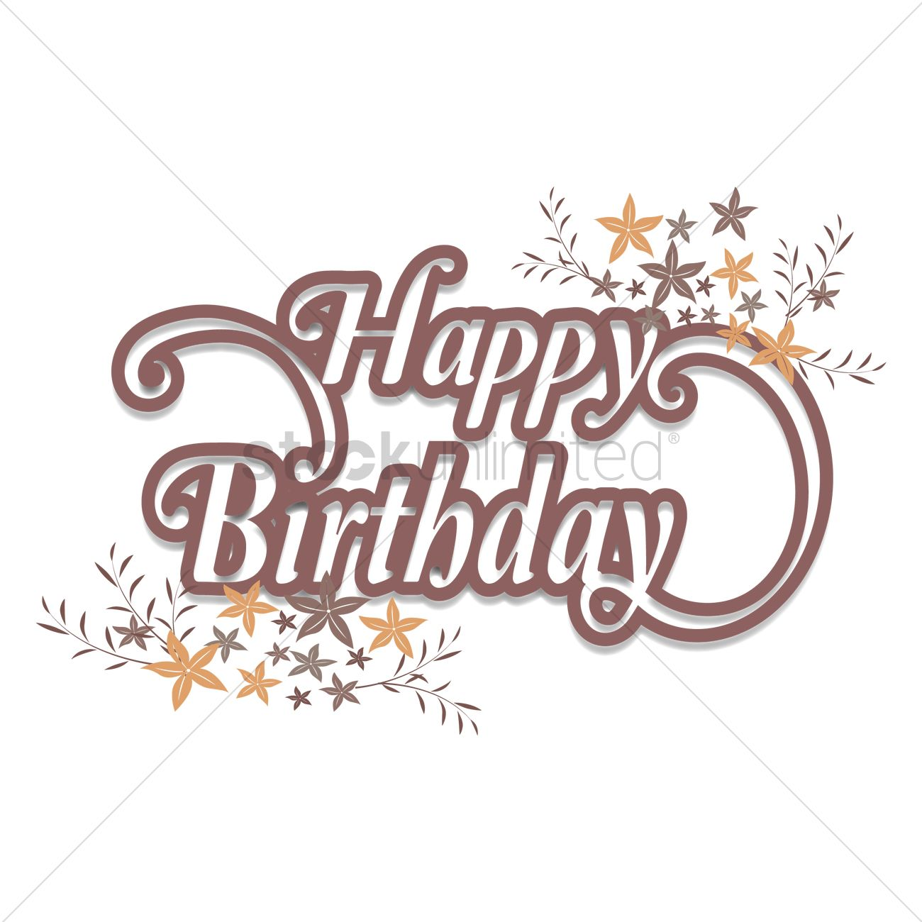 Free Happy Birthday Vector Image 1606868 Stockunlimited