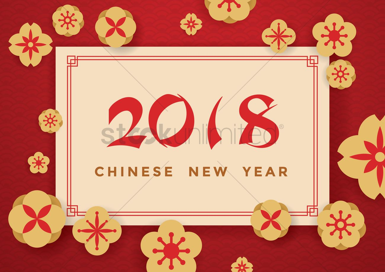 Happy chinese new year 2018 vector image 2078912 stockunlimited happy chinese new year 2018 vector graphic kristyandbryce Gallery