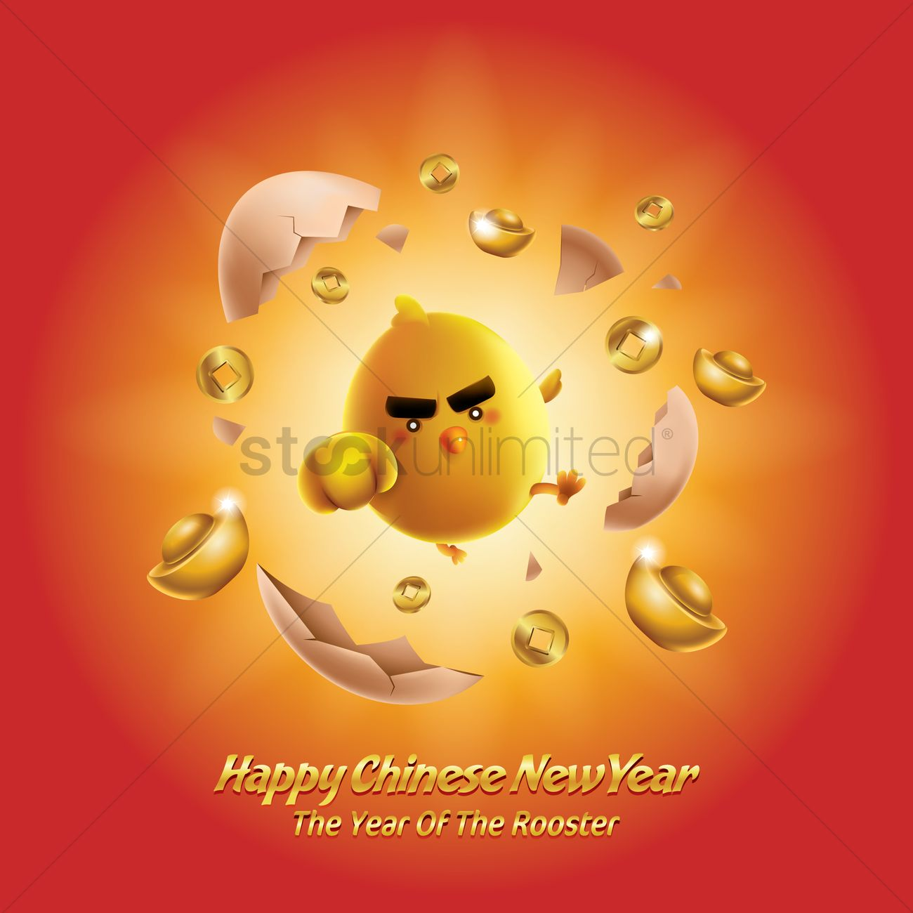 Happy Chinese New Year Greeting Vector Image 1978956 Stockunlimited