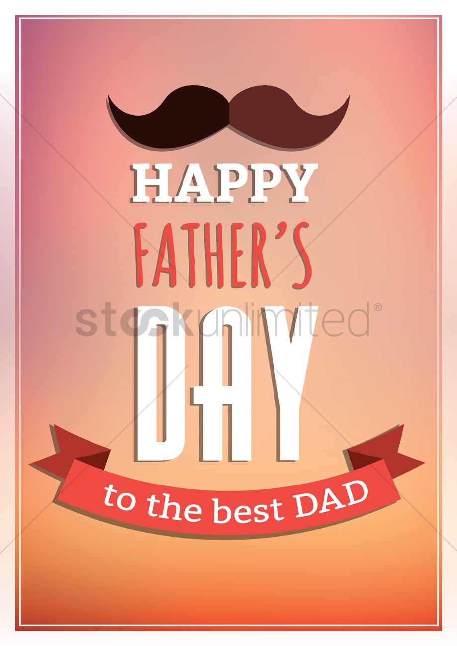 Happy fathers day greeting card vector image 1558708 stockunlimited happy fathers day greeting card vector graphic m4hsunfo