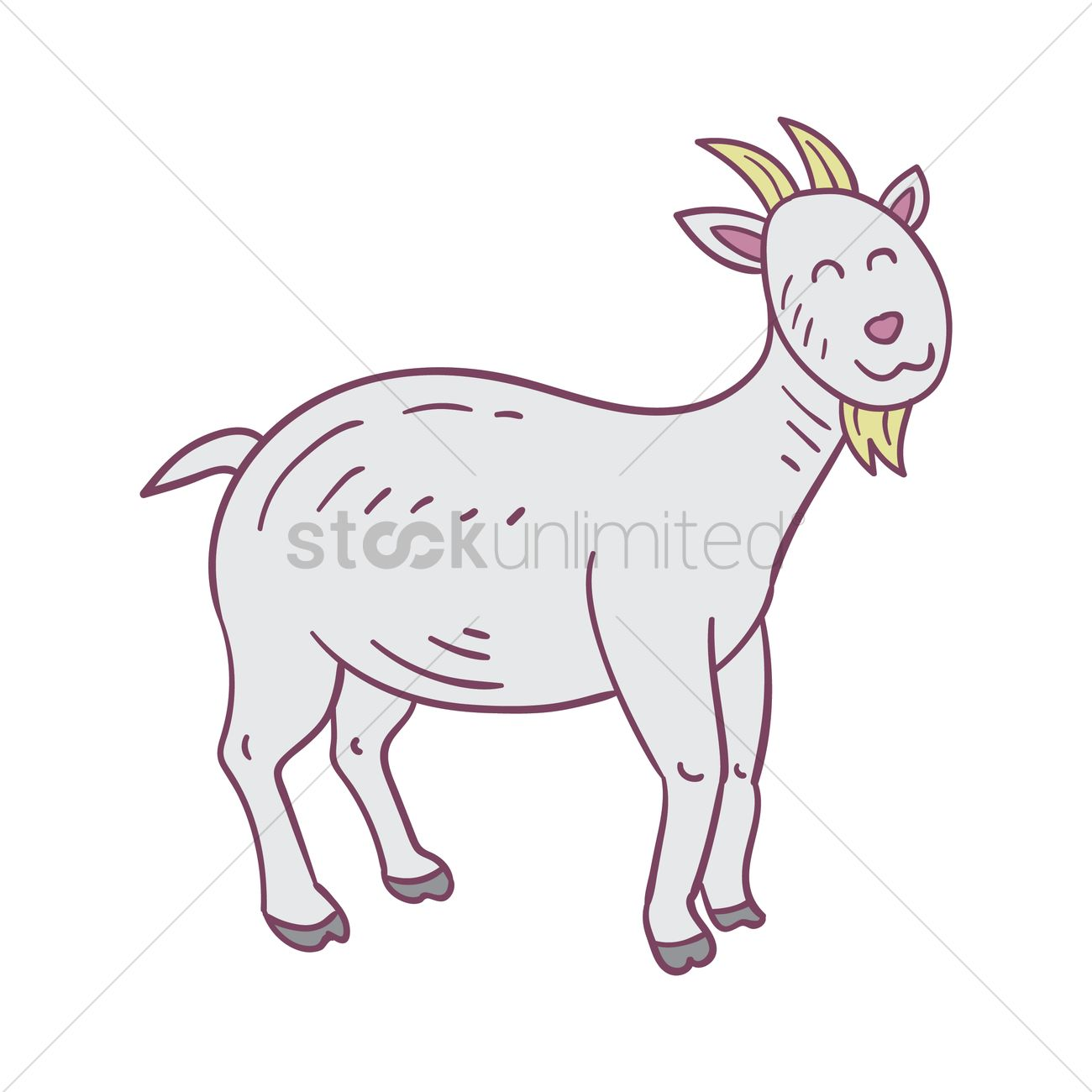Happy goat Vector Image - 2028964 | StockUnlimited for happy goat drawing  183qdu