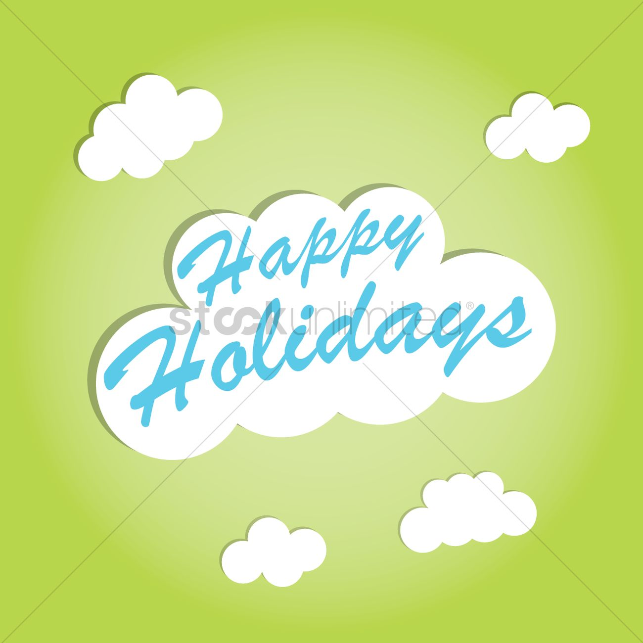 Happy Holidays Greeting Card Vector Image 1522240 Stockunlimited
