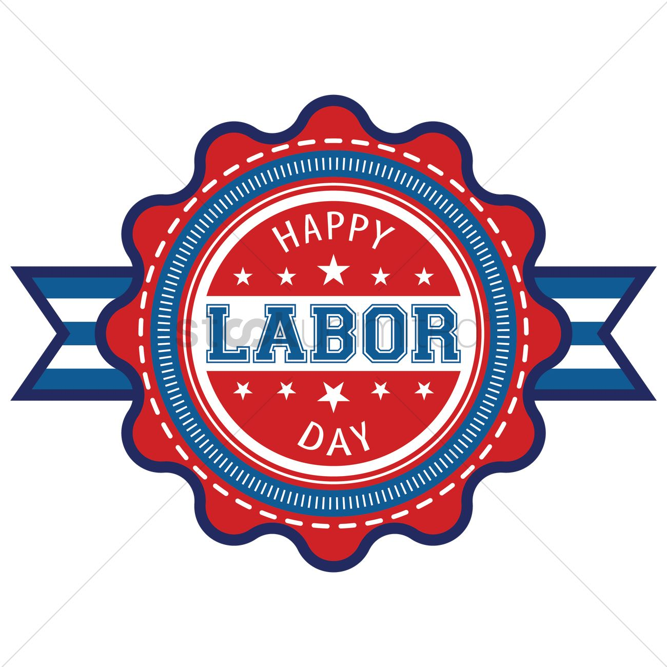 Happy Labor Day Label Vector Image 1557656 Stockunlimited