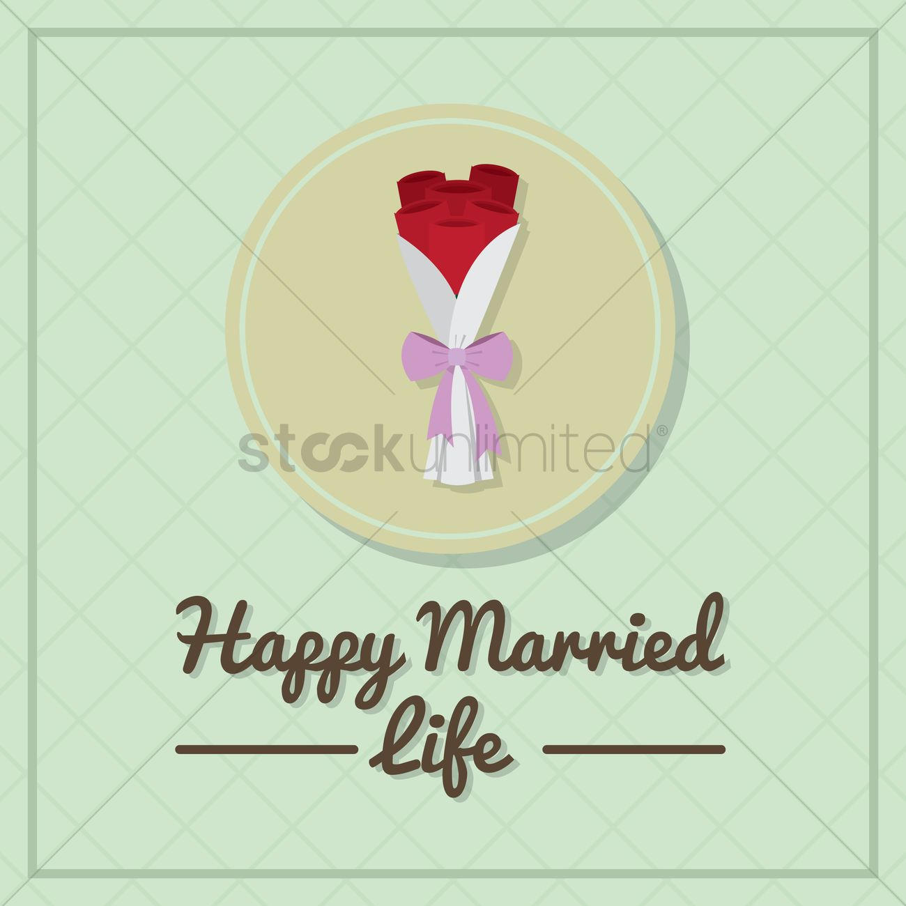 Happy Married Life Wishes Vector Image 1791560 Stockunlimited