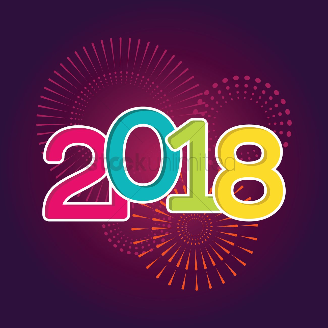 Happy New Year 2018 Vector Image 2078756 Stockunlimited