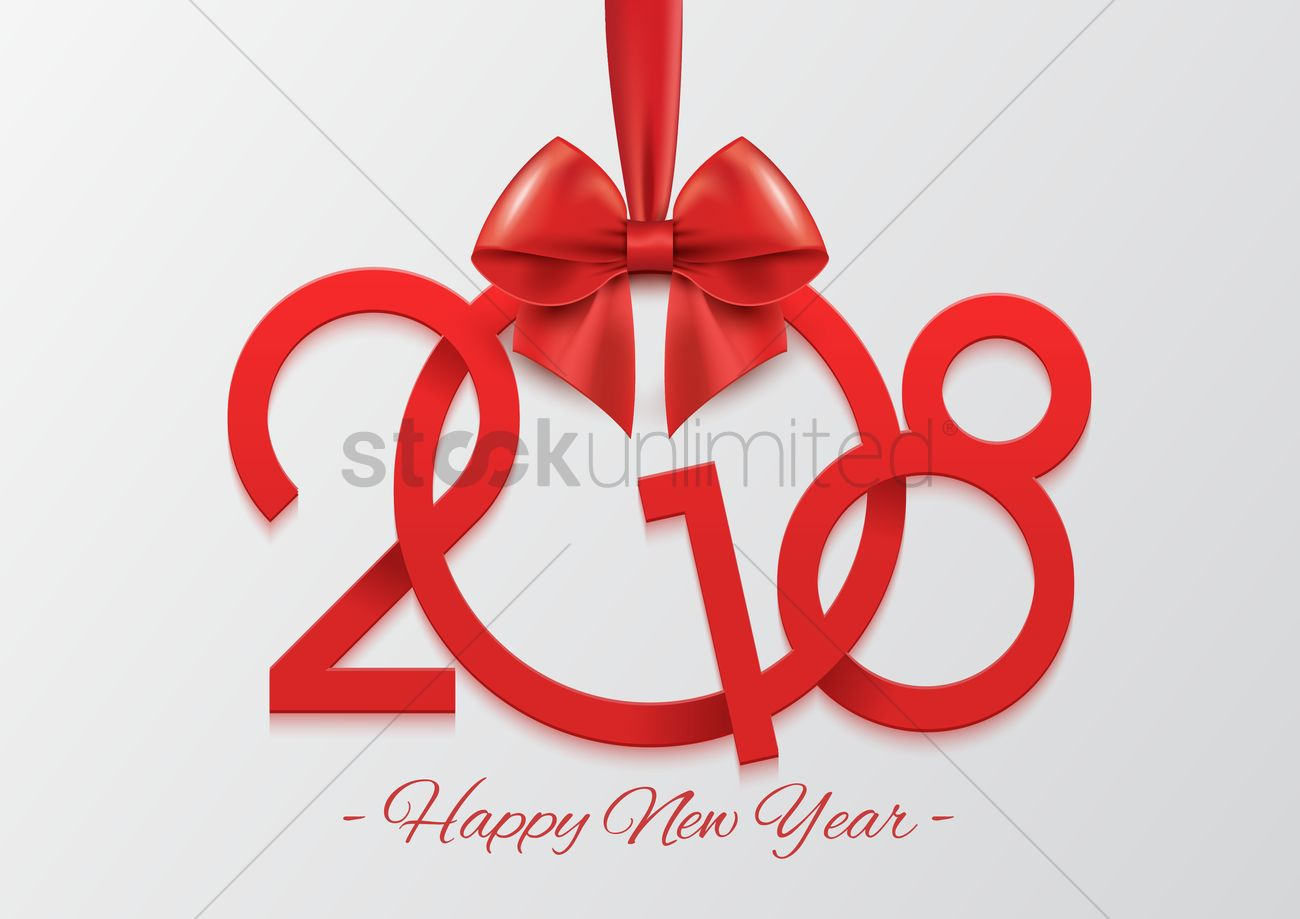 Happy New Year 2018 Vector Image - 2078772