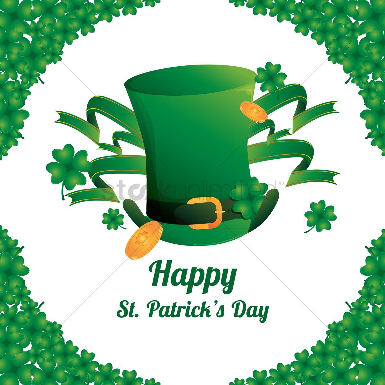 Happy St Patrick S Day Wallpaper Vector Image 1482116