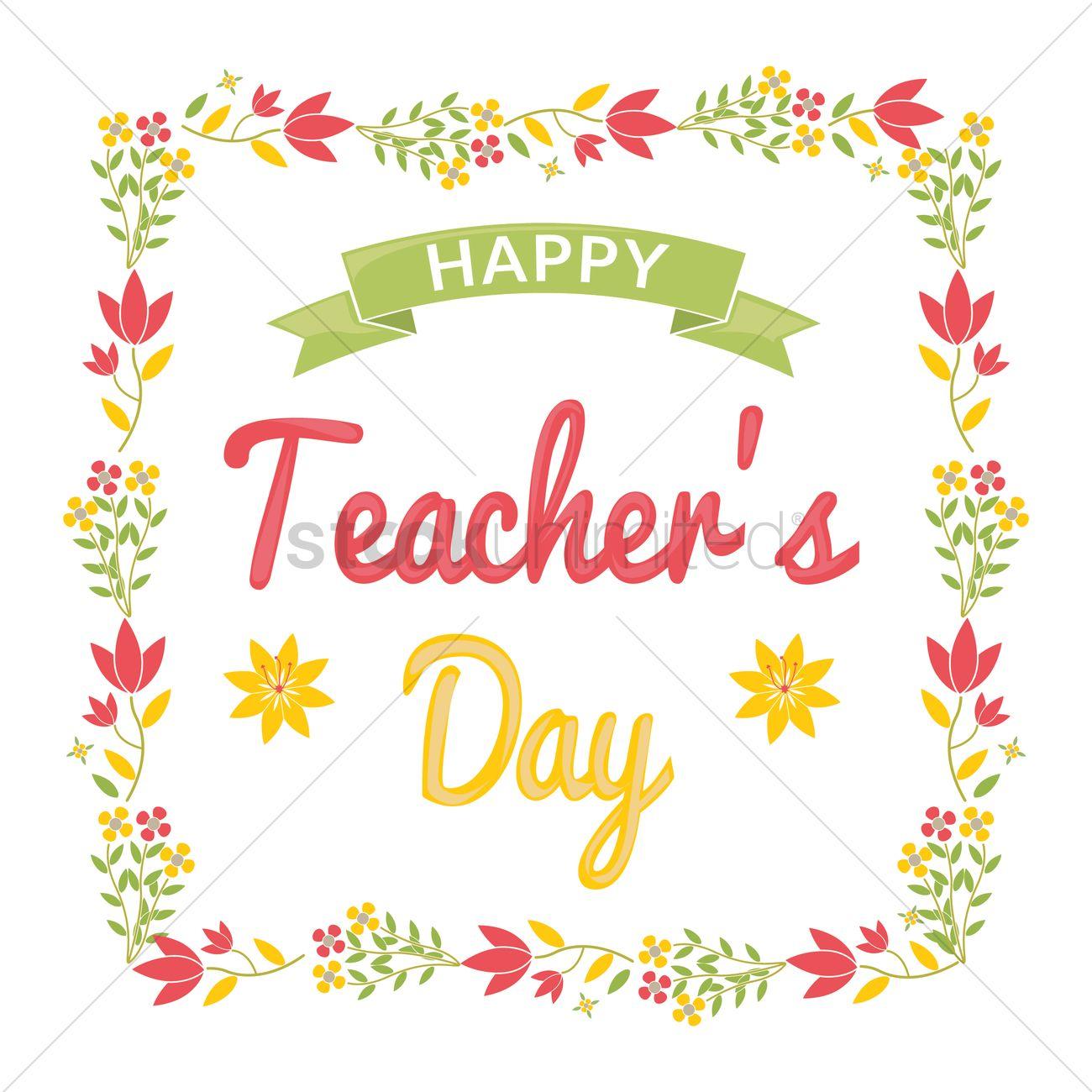 happy teacher's day design vector image  1968688