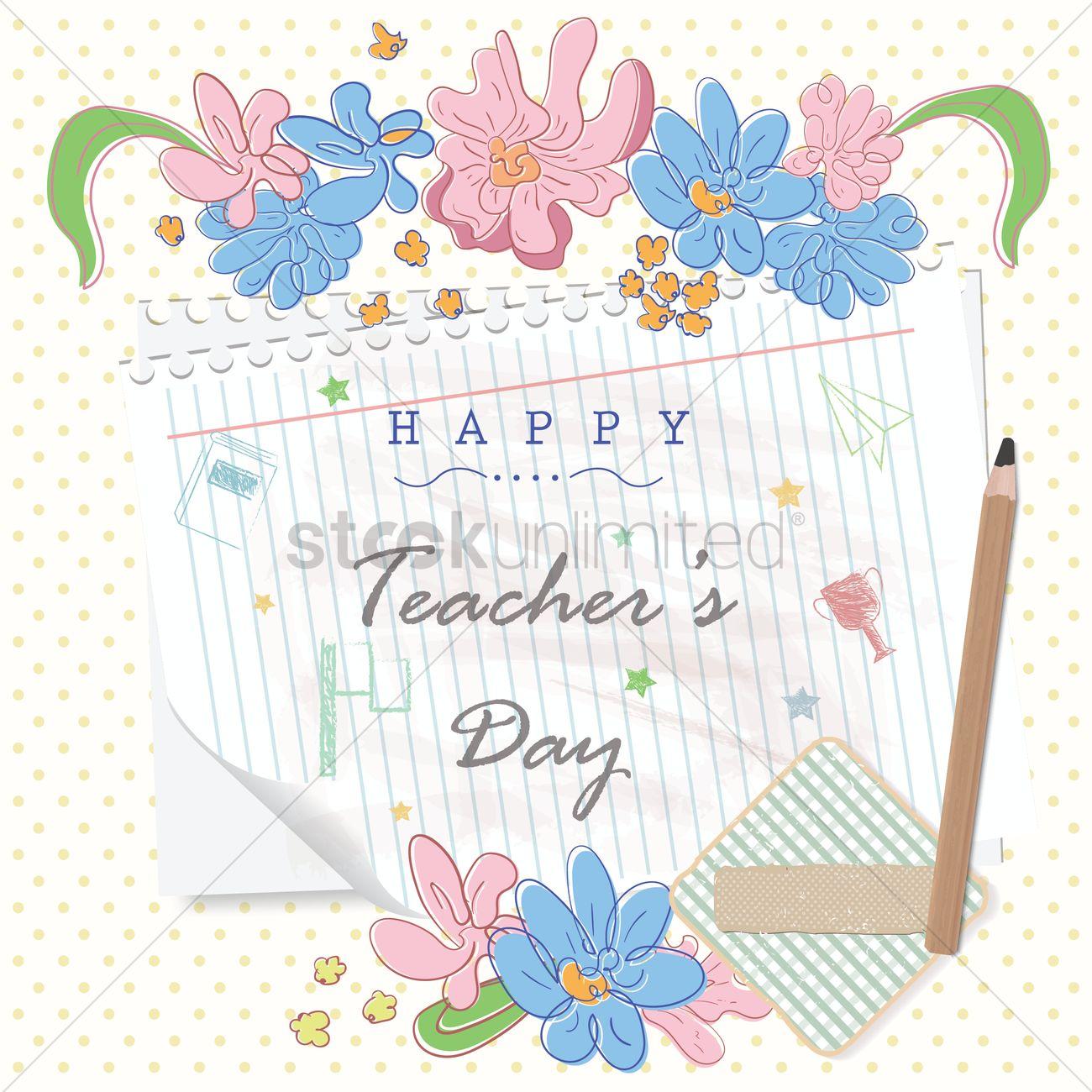 Happy Teachers Day Design Vector Image 1987044 Stockunlimited