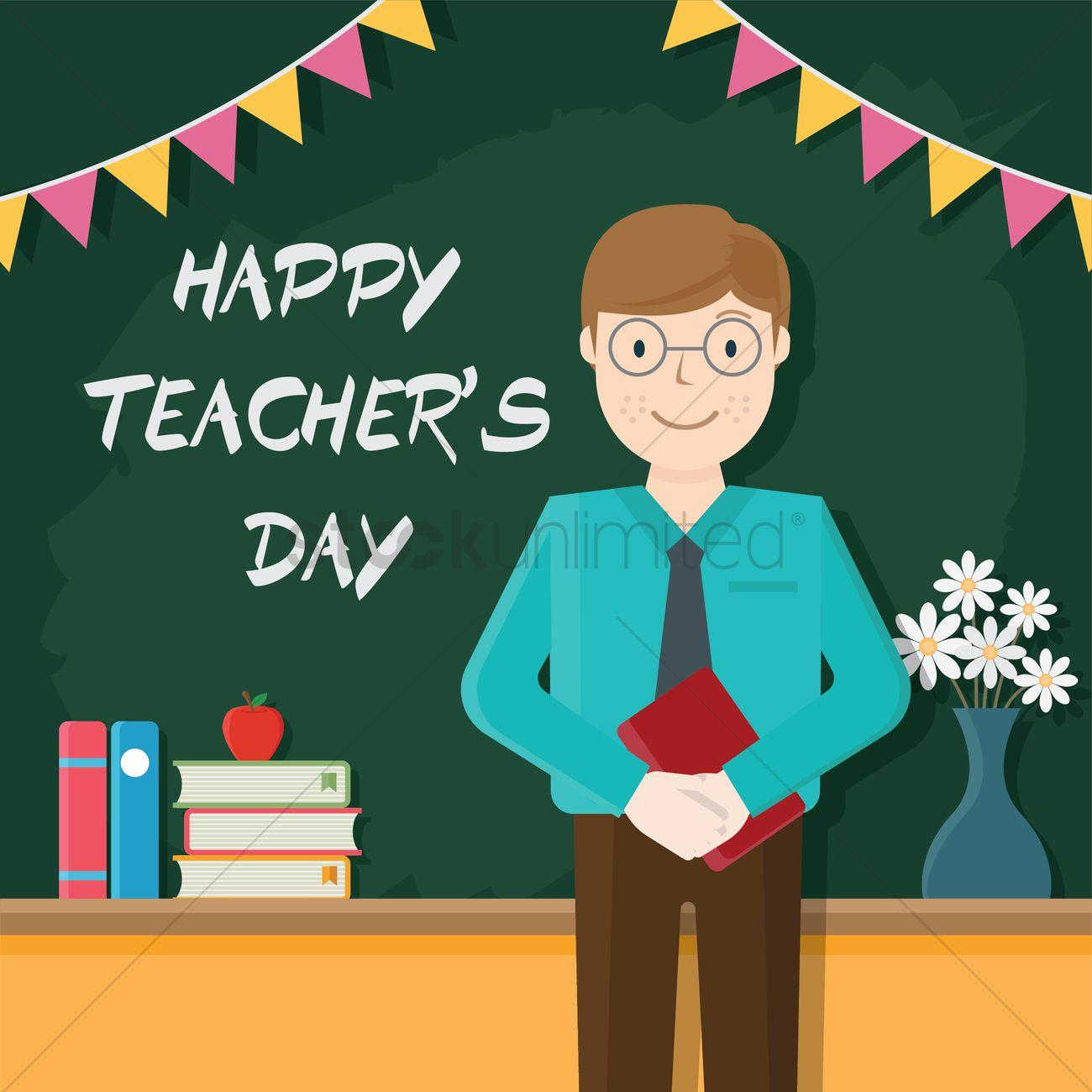 happy teacher s day design vector image 2006988 stockunlimited