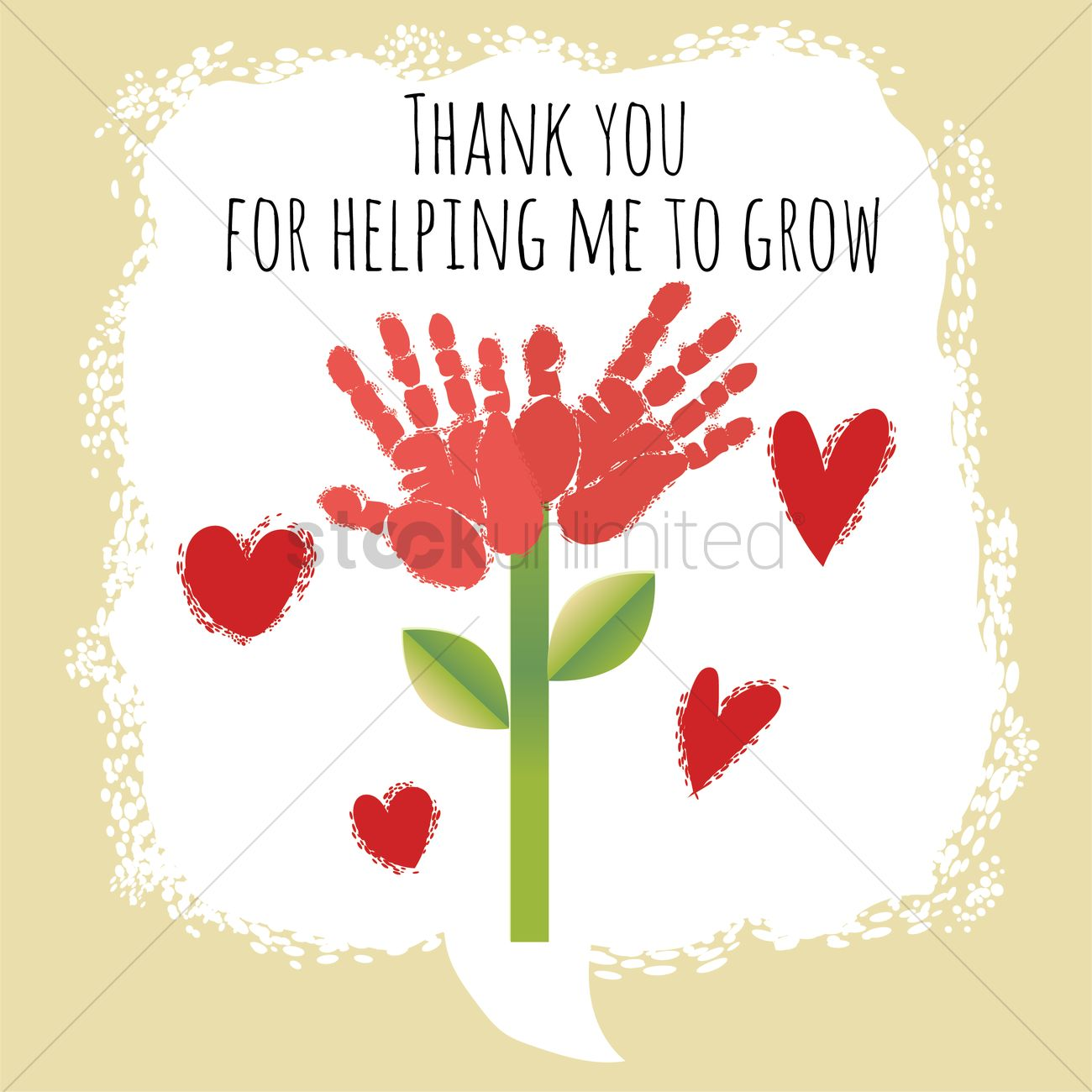 Thanks For Helping Me Grow Quotes: Happy Teacher's Day Design Vector Image