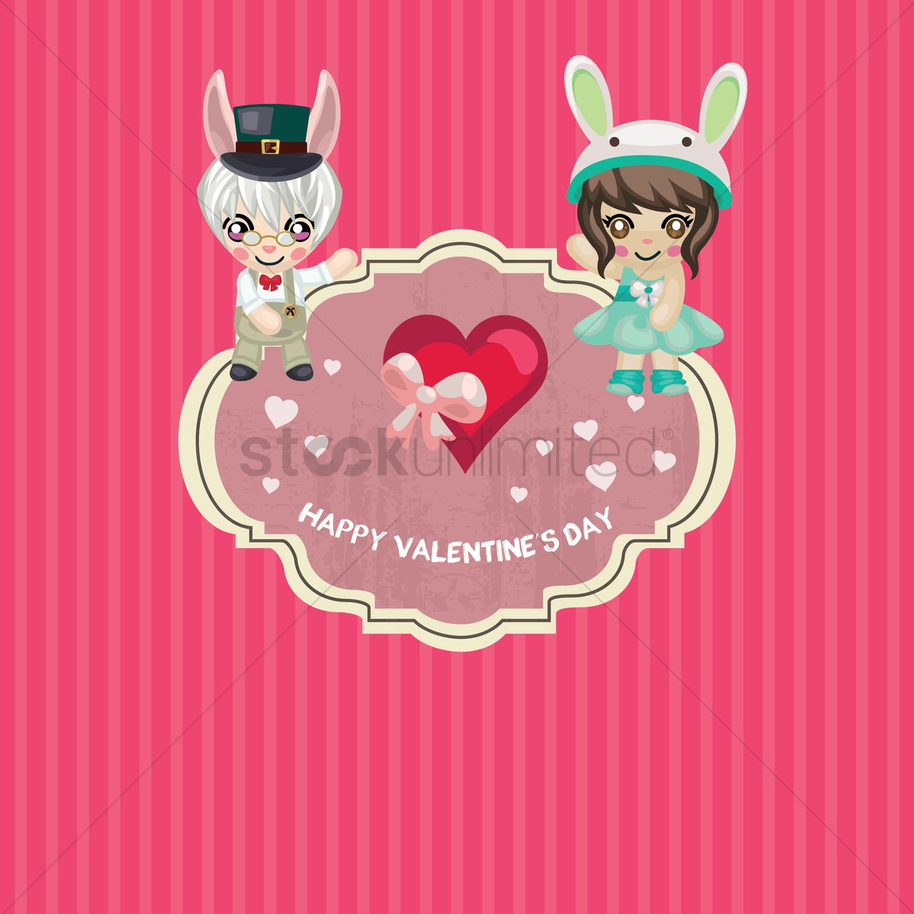 Happy Valentines Day Wallpaper Vector Graphic