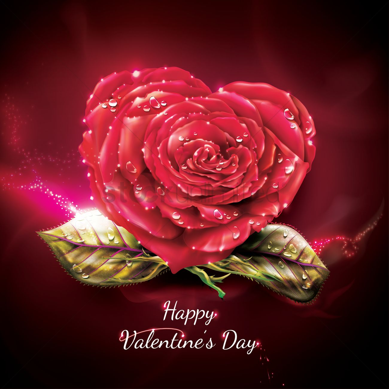 Happy Valentines Day Greeting Vector Image 1974896 Stockunlimited