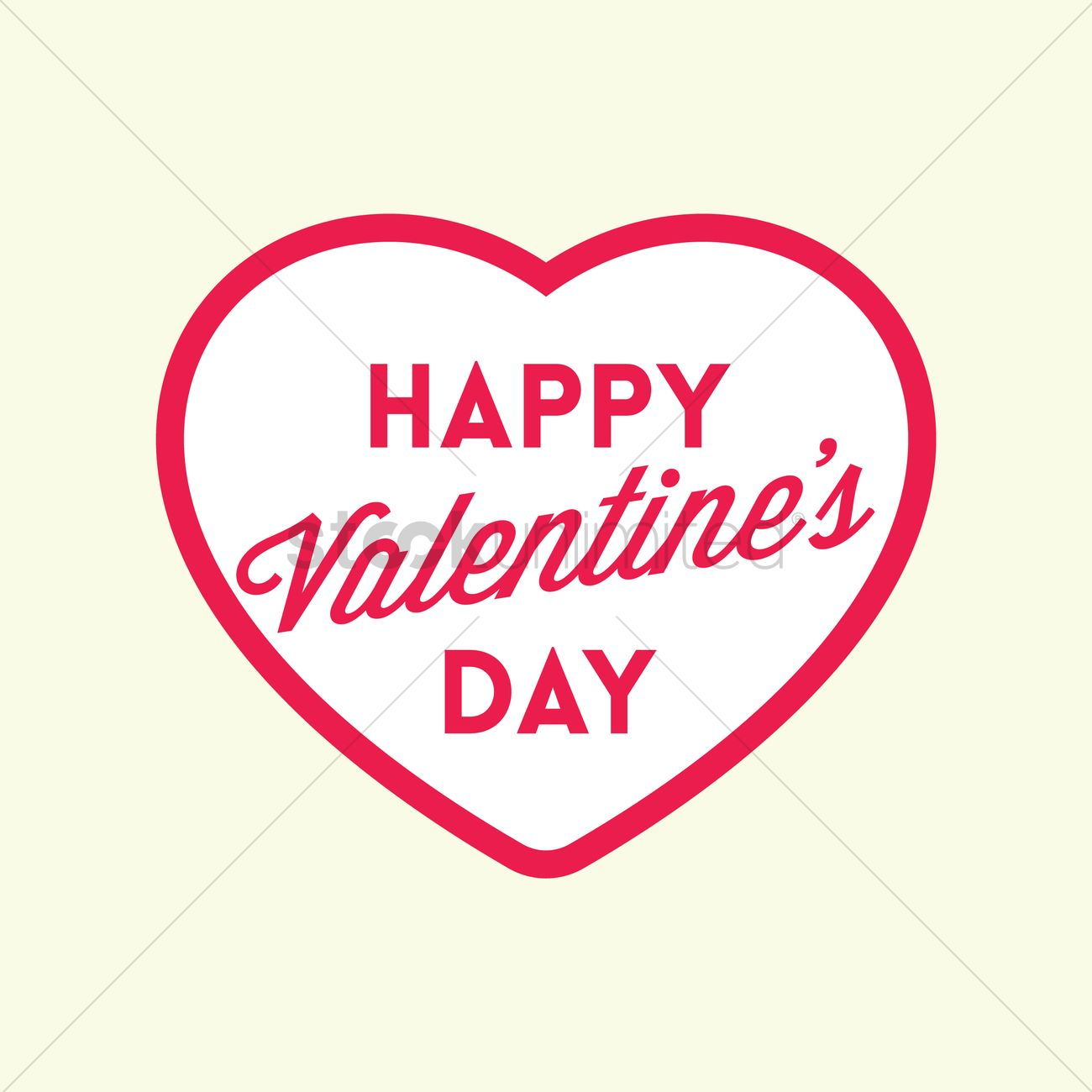 free happy valentines day vector graphic