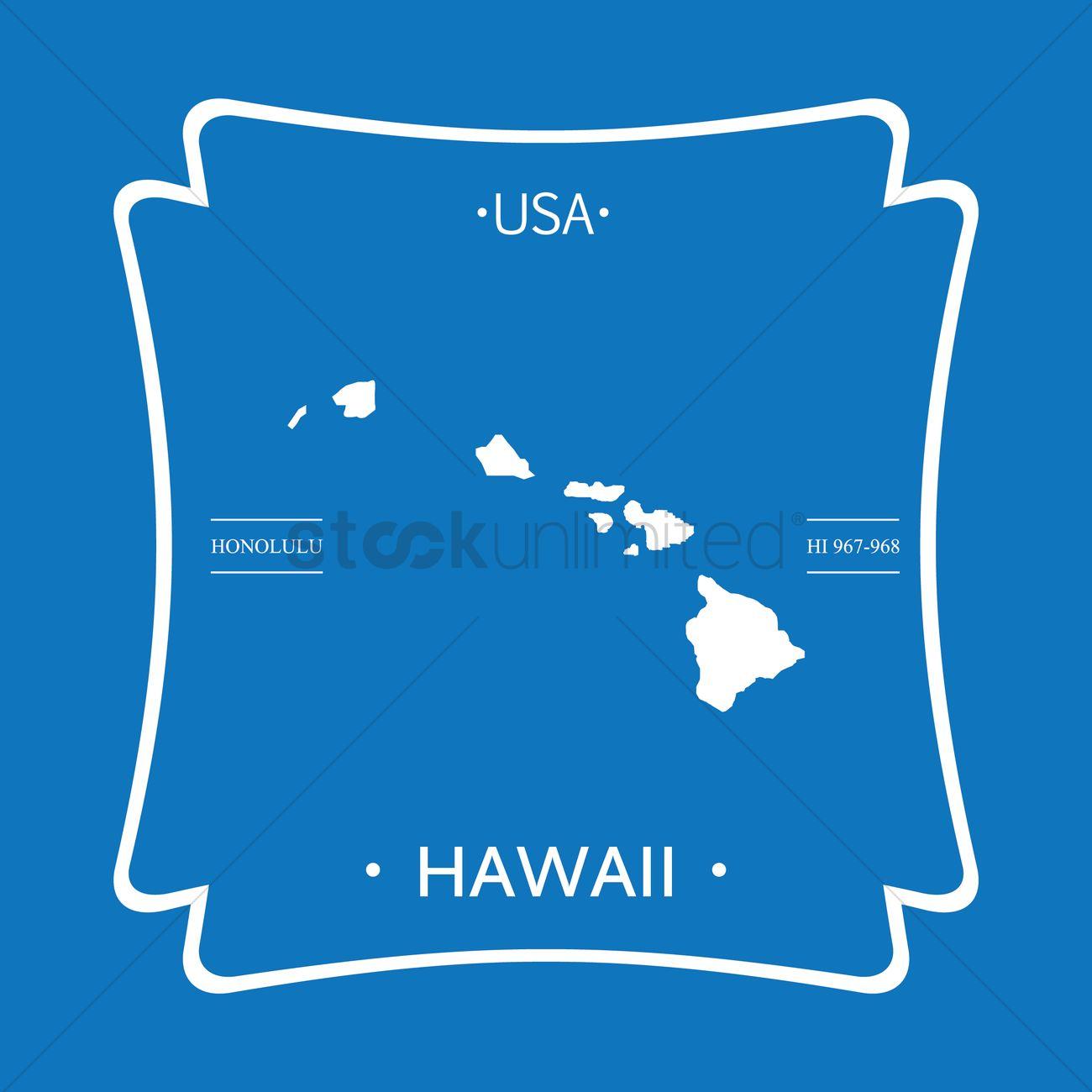 Hawaii Map Vector Image 1623736 Stockunlimited
