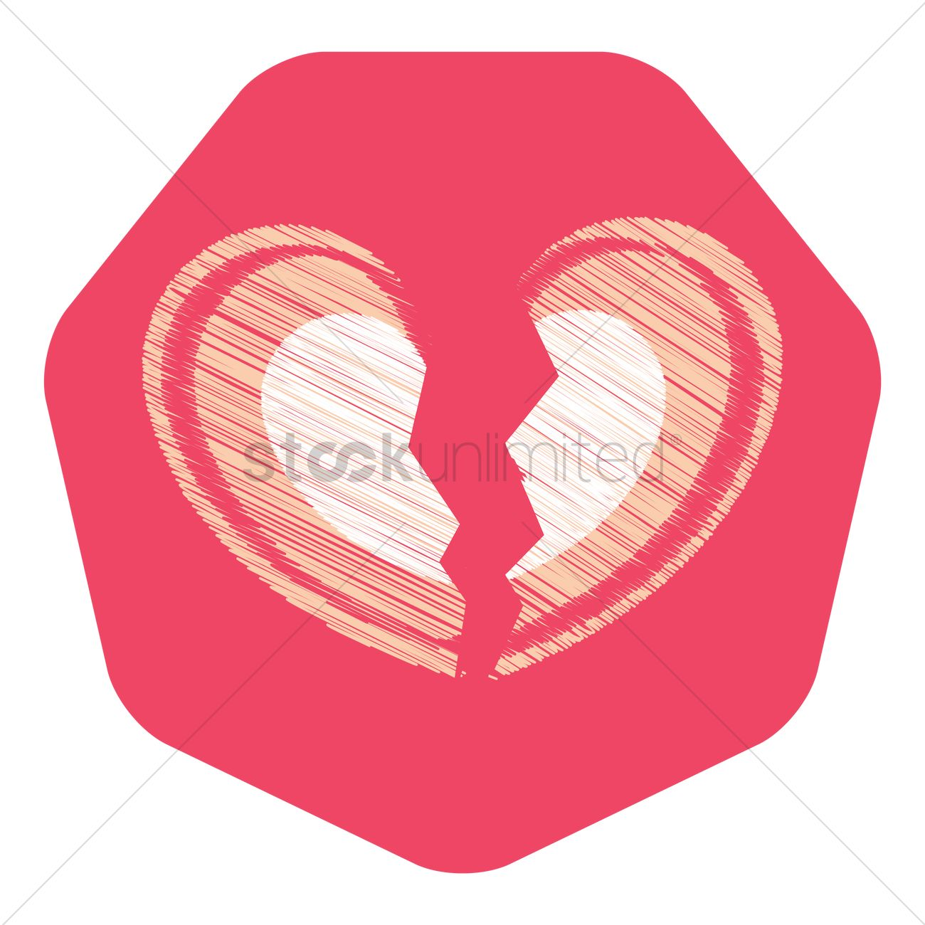 Free Heart Break Vector Image 1279040 Stockunlimited