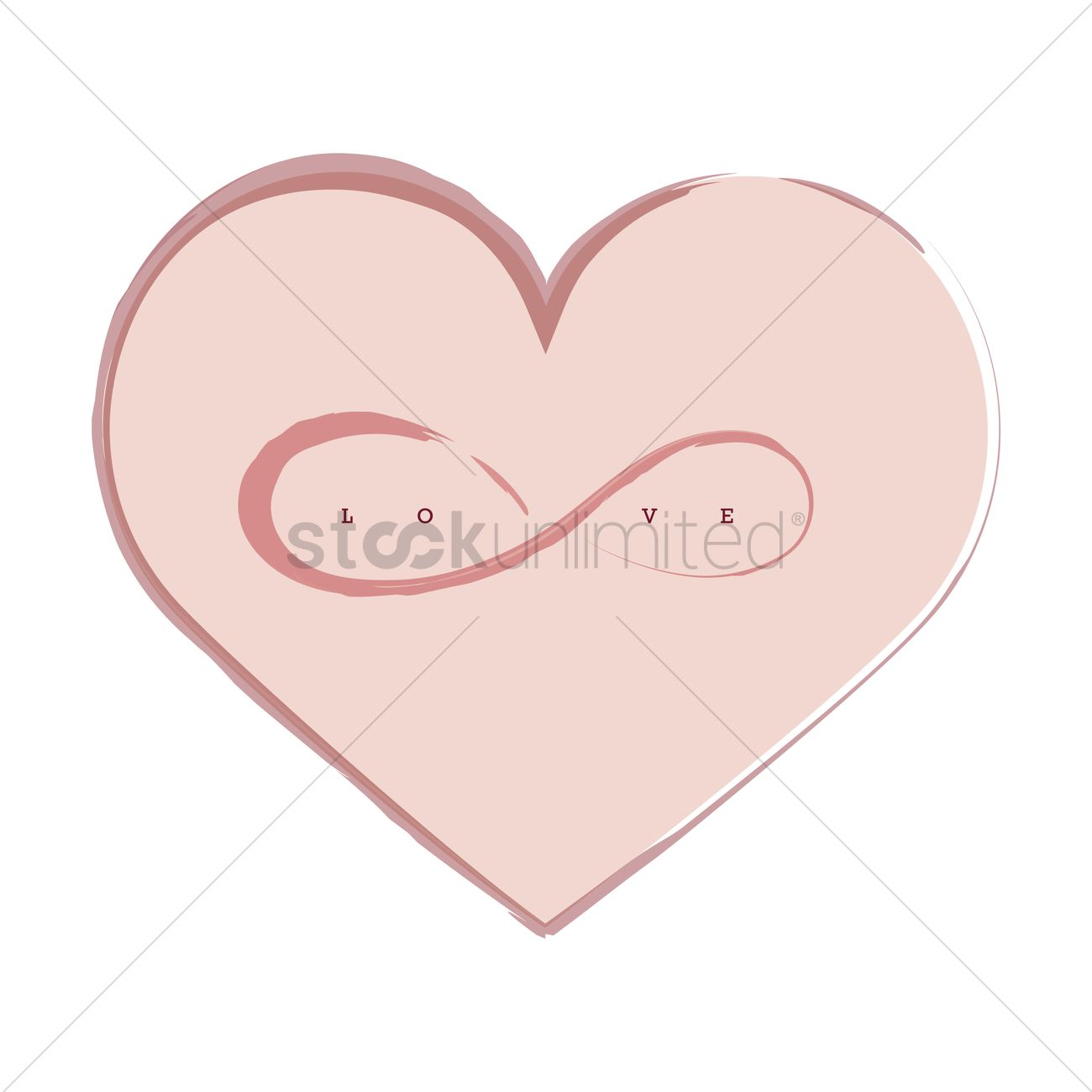 Heart with infinity symbol vector image 1345508 stockunlimited heart with infinity symbol vector graphic buycottarizona Gallery