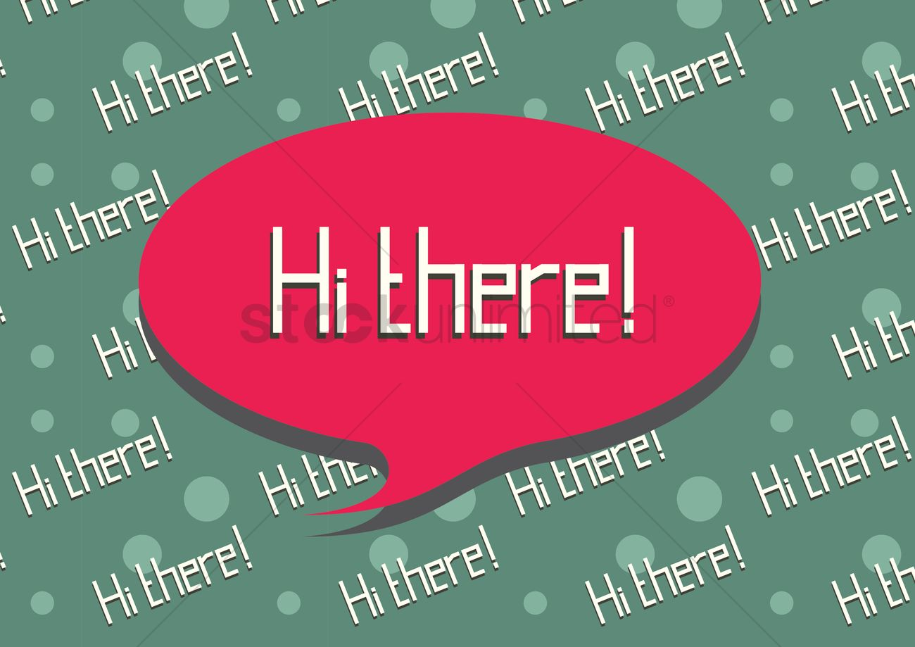 Hi There Greeting In A Speech Bubble Vector Image 1397456
