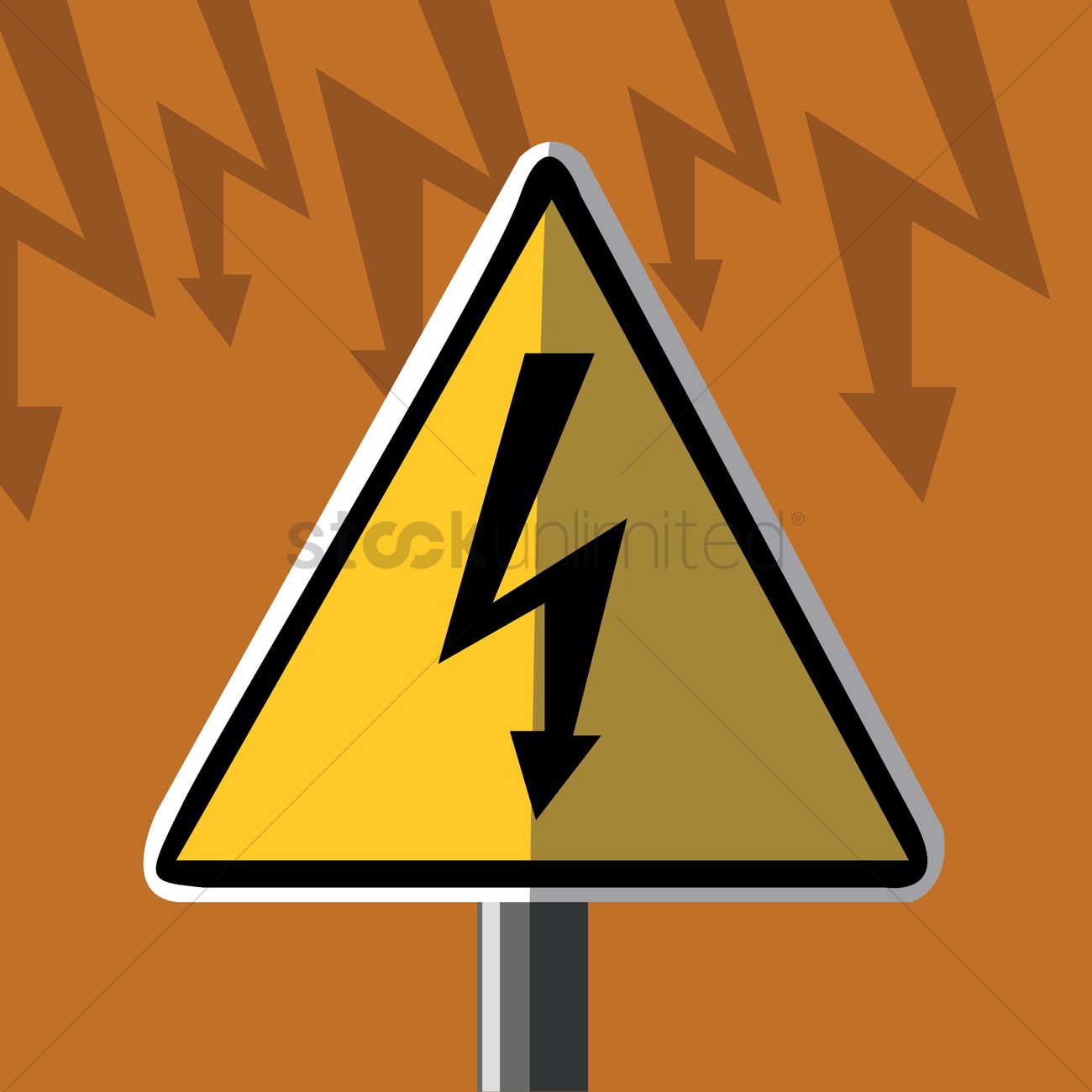 High voltage sign board vector image 1413732 stockunlimited high voltage sign board vector graphic buycottarizona Images