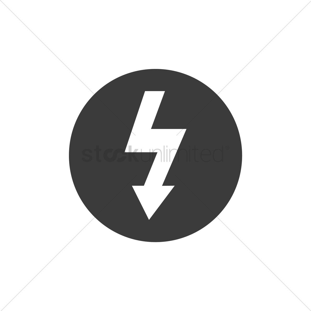High Voltage Symbol Vector Image 2029520 Stockunlimited