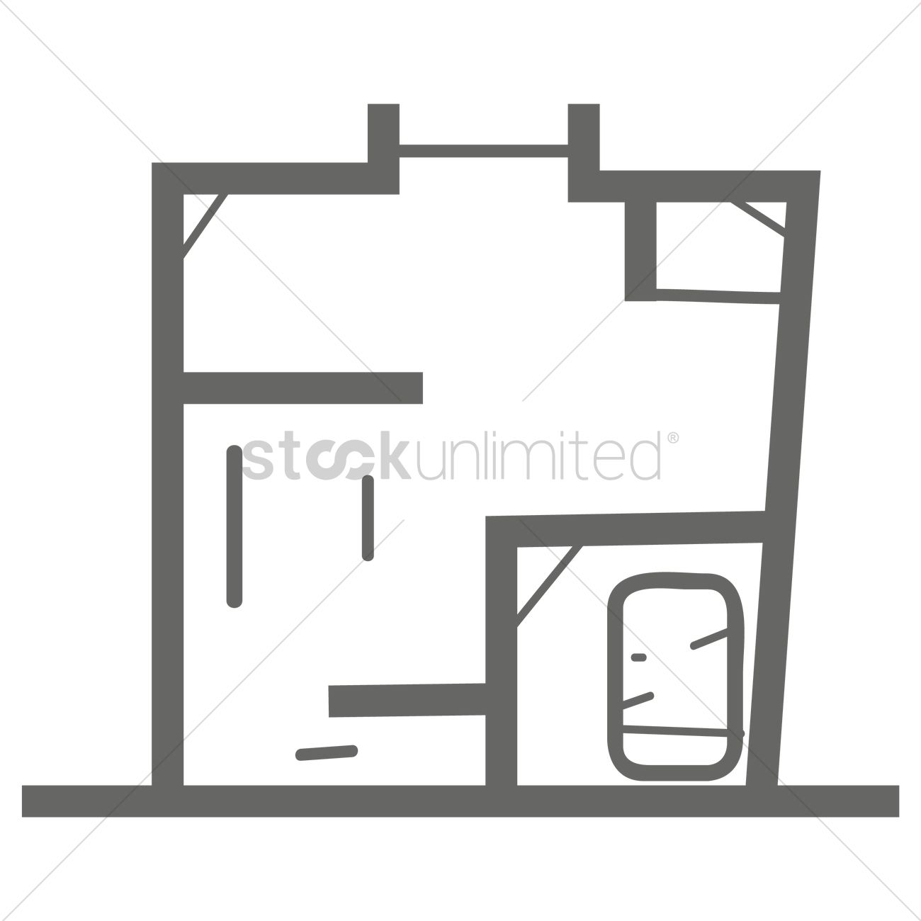Home plan Vector Image