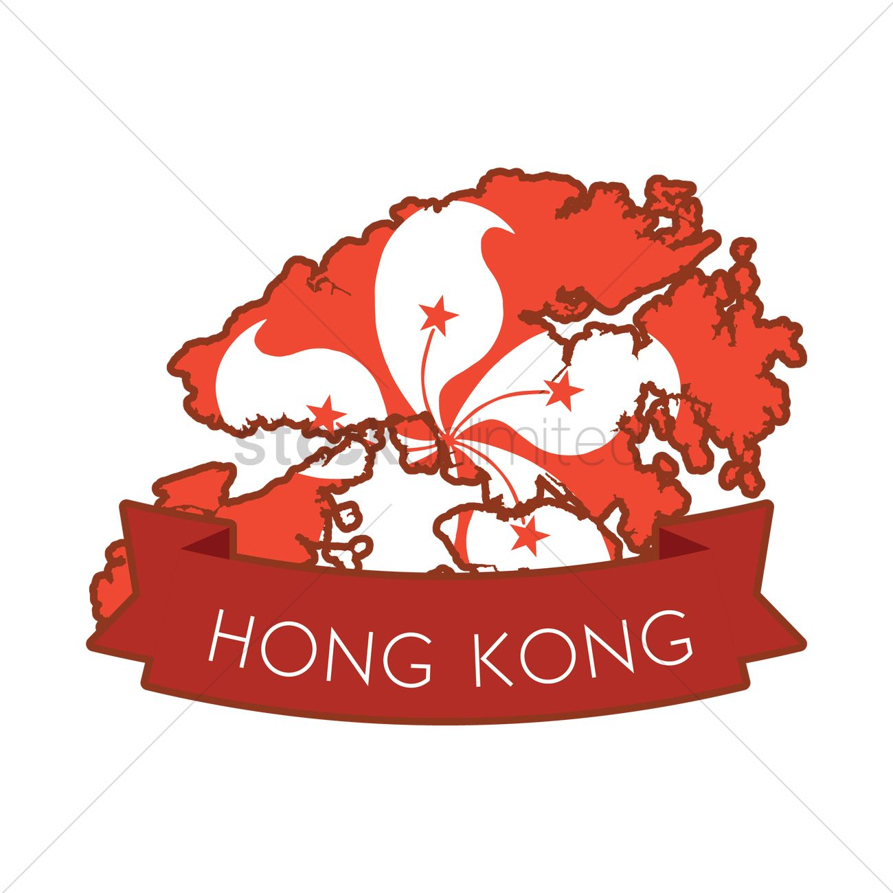 hong kong map icon vector graphic