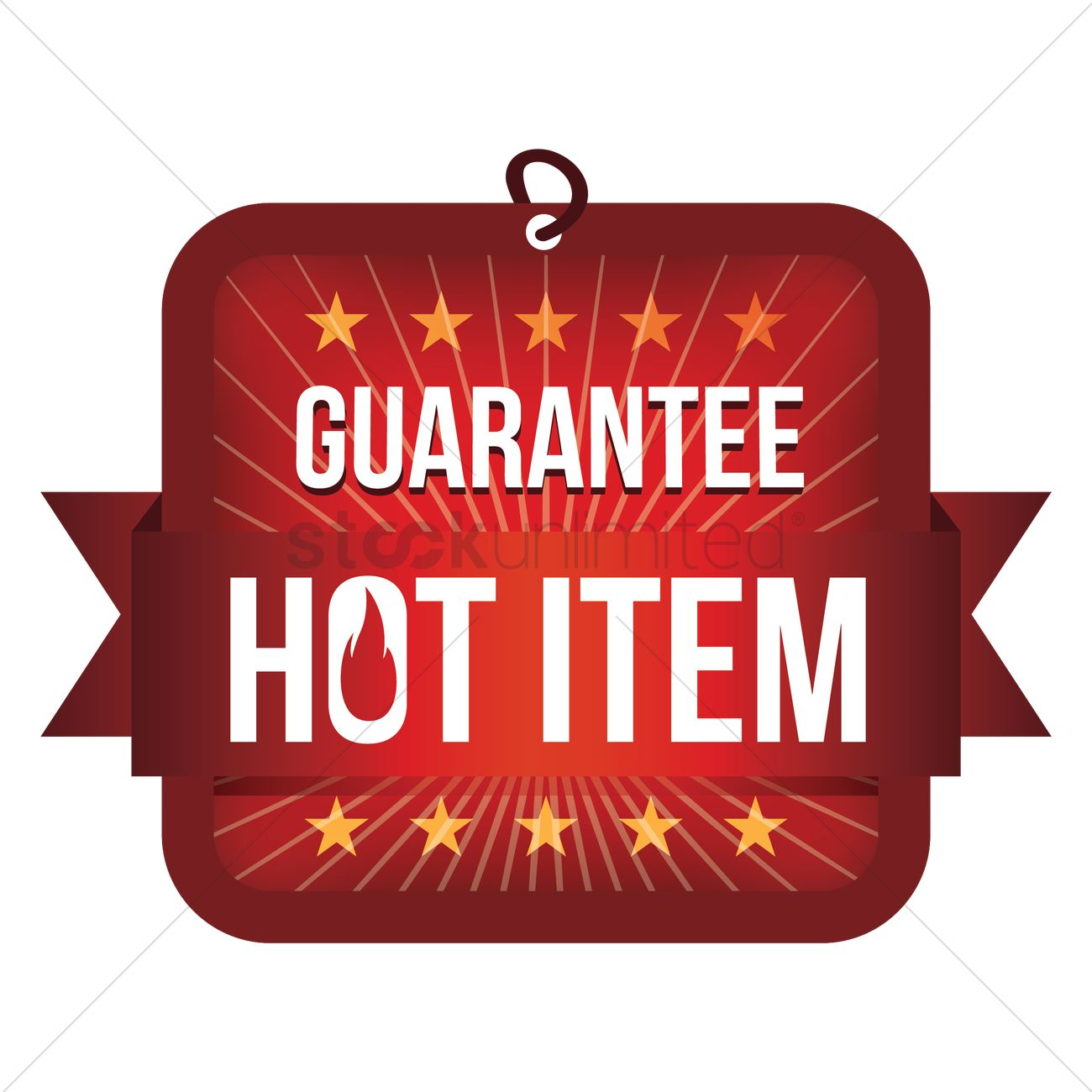 hot item tag vector graphic