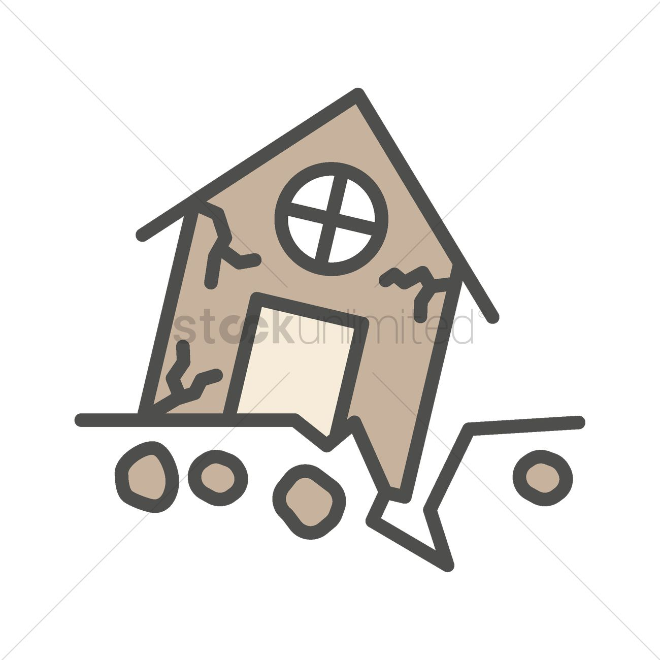 house in earthquake vector image 1999672 stockunlimited rh stockunlimited com earthquake clipart free earthquake clipart images