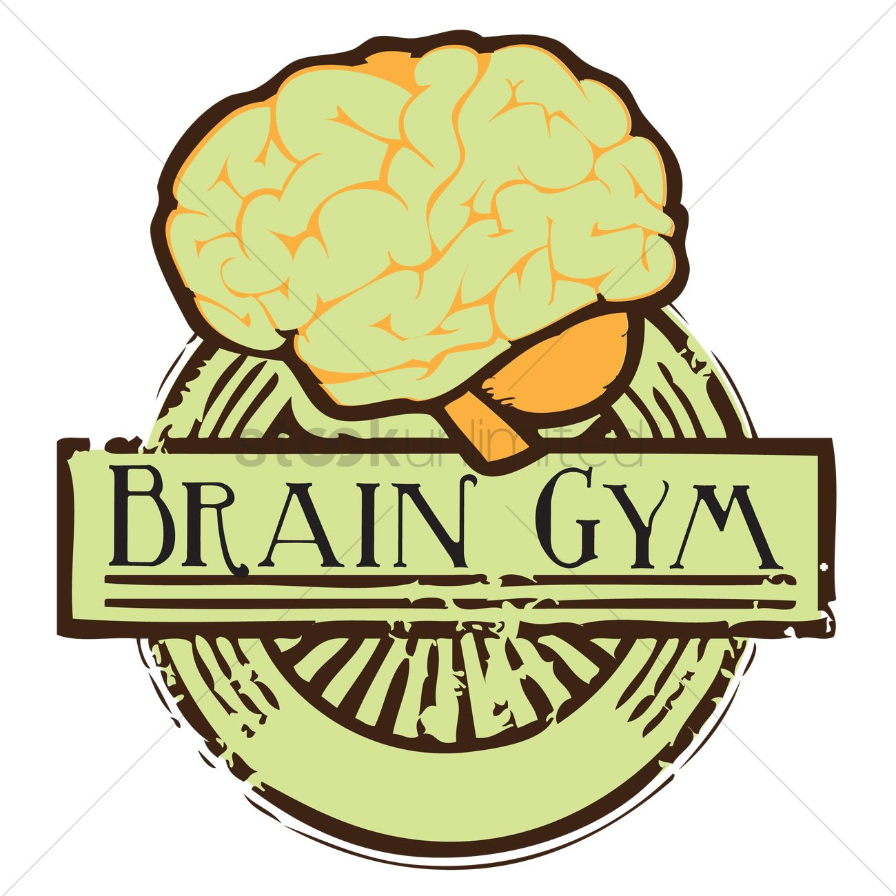 Free Human brain with brain gym label Vector Image - 1249760 ...