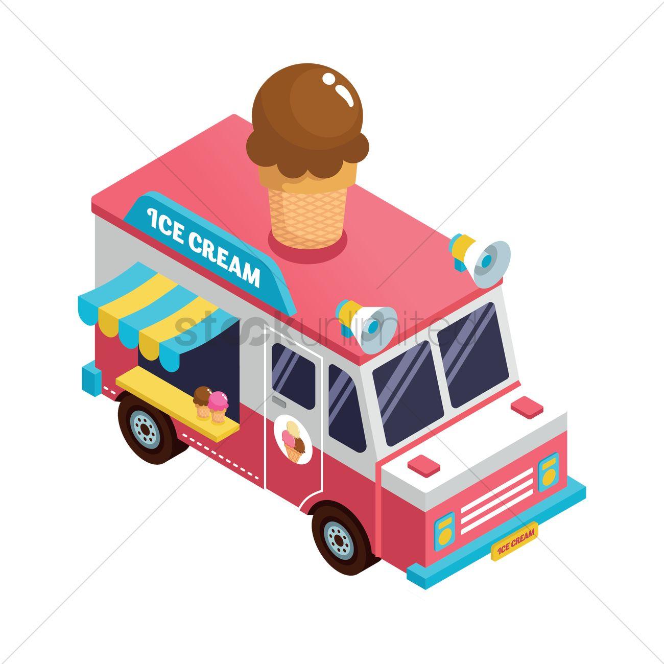 Ice cream truck Vector Image - 1572960 | StockUnlimited  Ice cream truck...