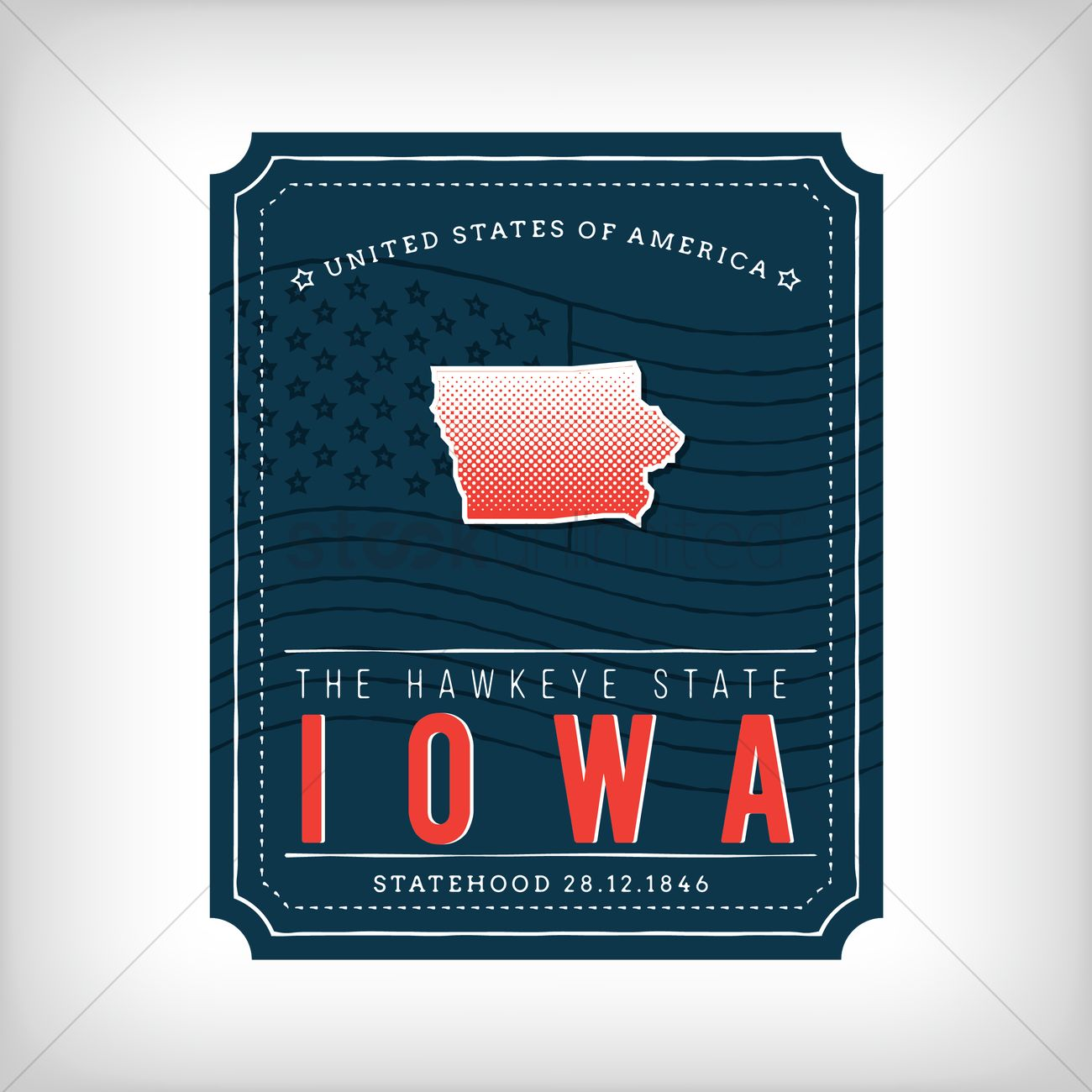 Iowa map Vector Image - 1623668   StockUnlimited S In Iowa Map on