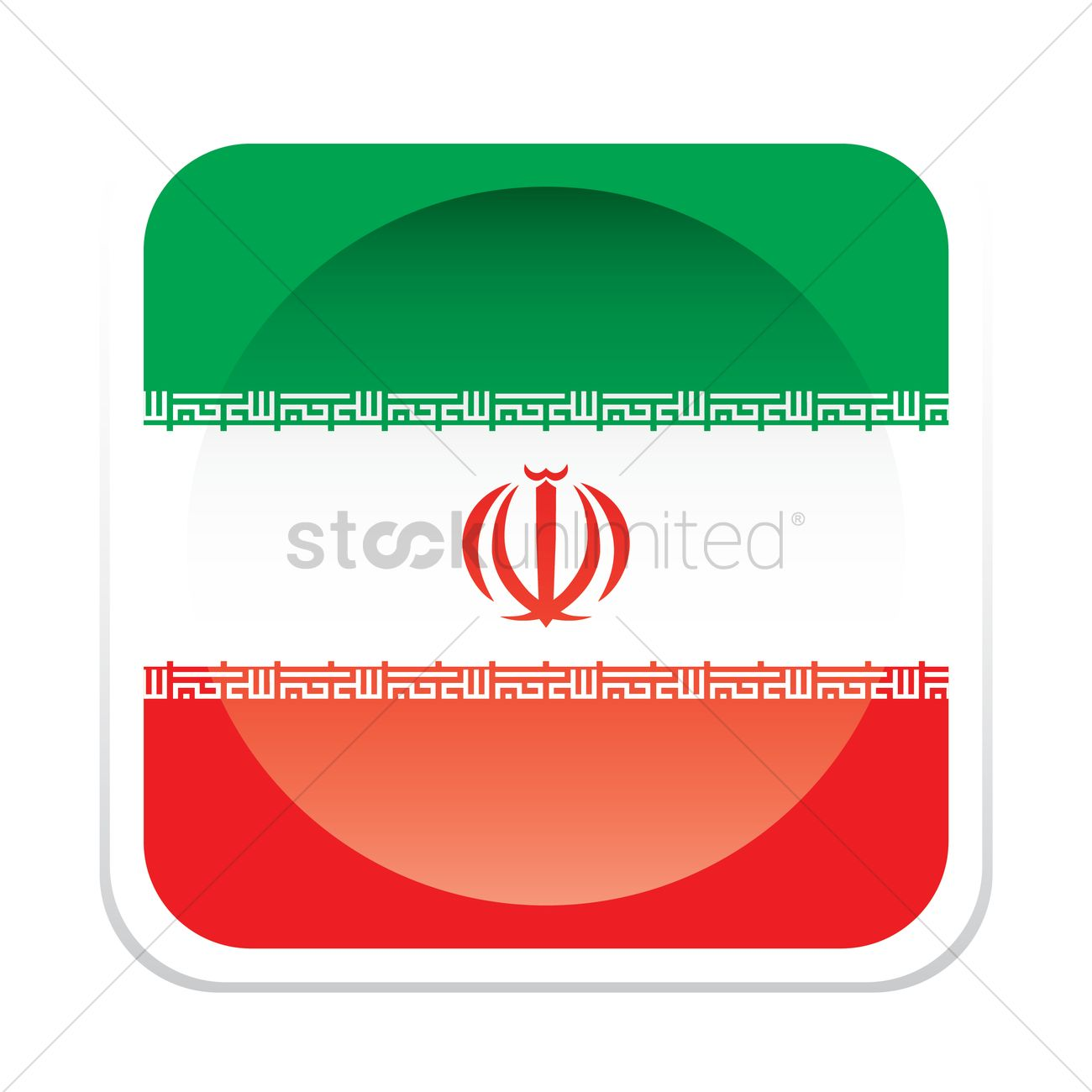 Iran Flag Vector Image 1380168 Stockunlimited