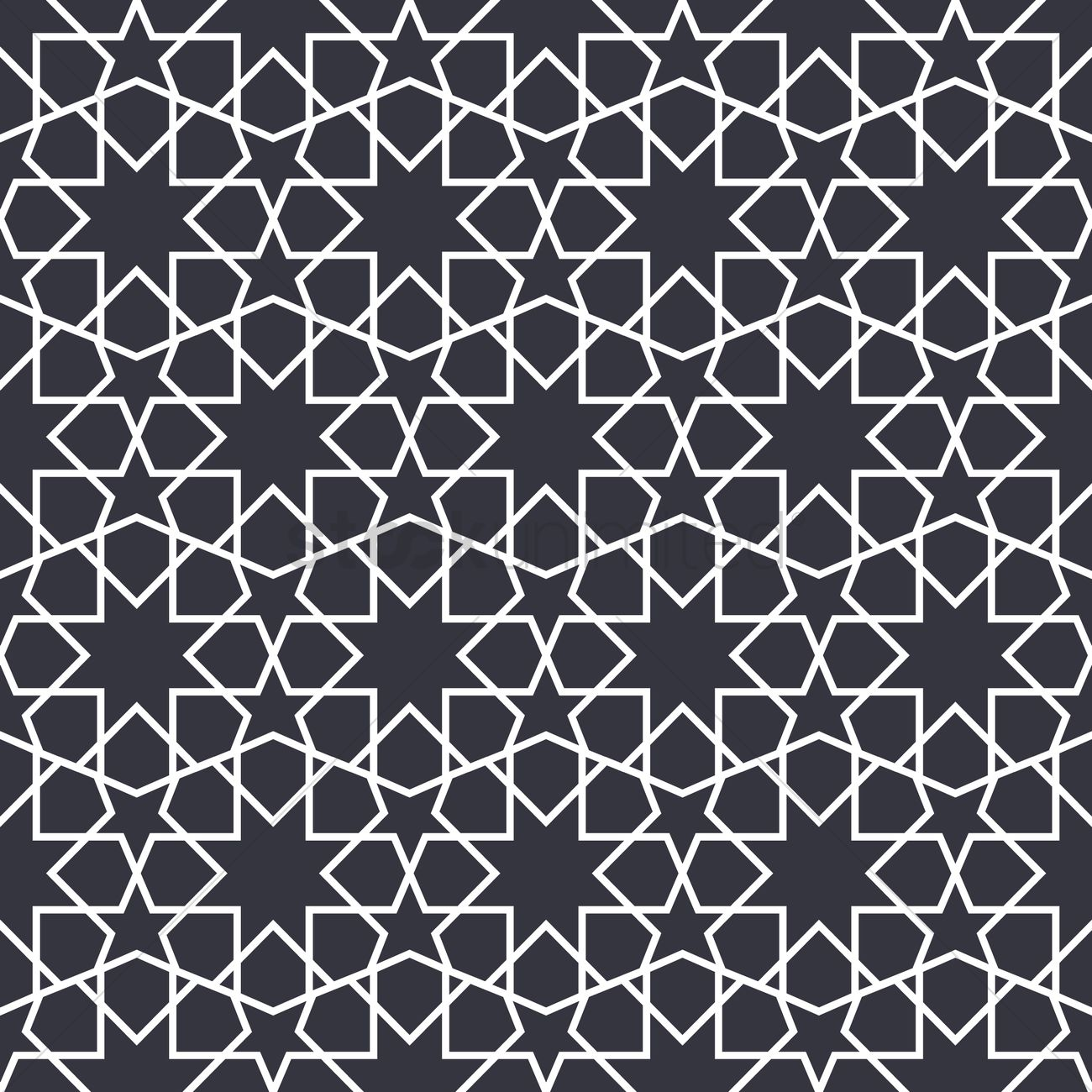 Islamic geometric pattern design Vector Image - 1979724 ...