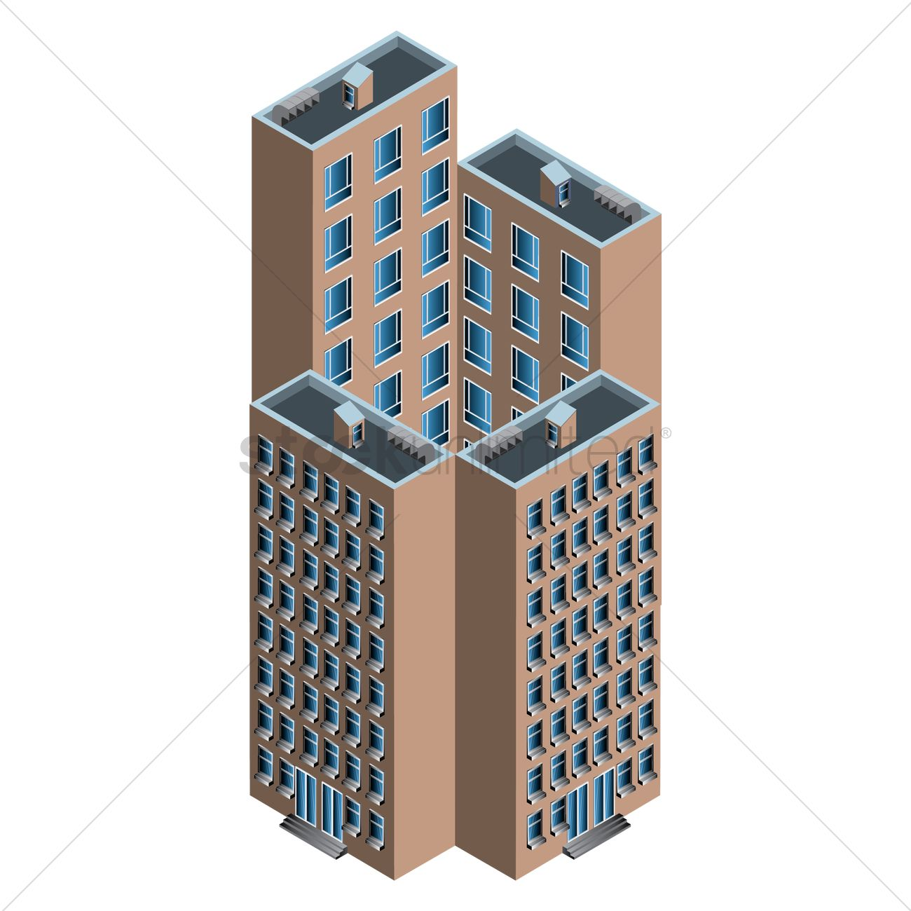 Isometric building Vector Image - 1554724 | StockUnlimited